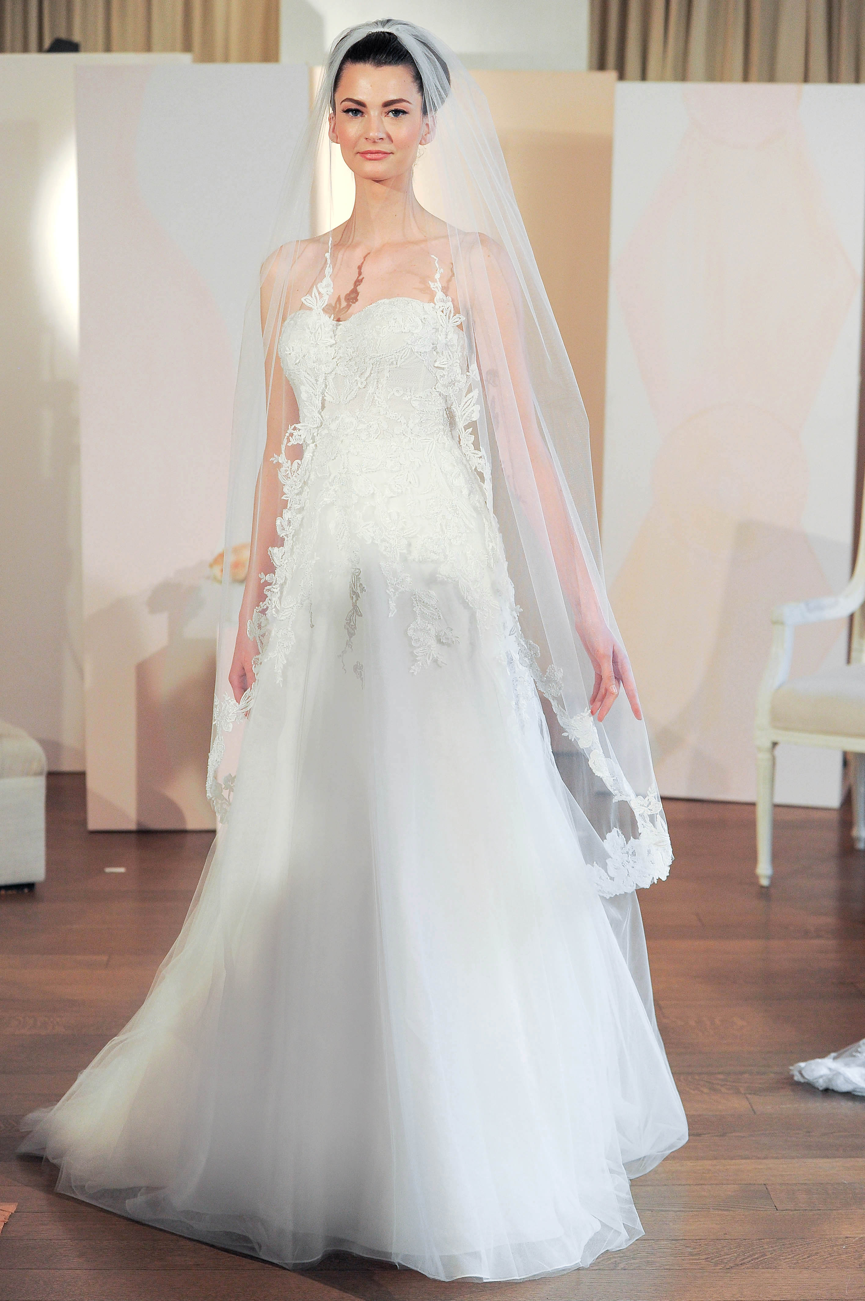 anne barge a-line lace wedding dress spring 2018
