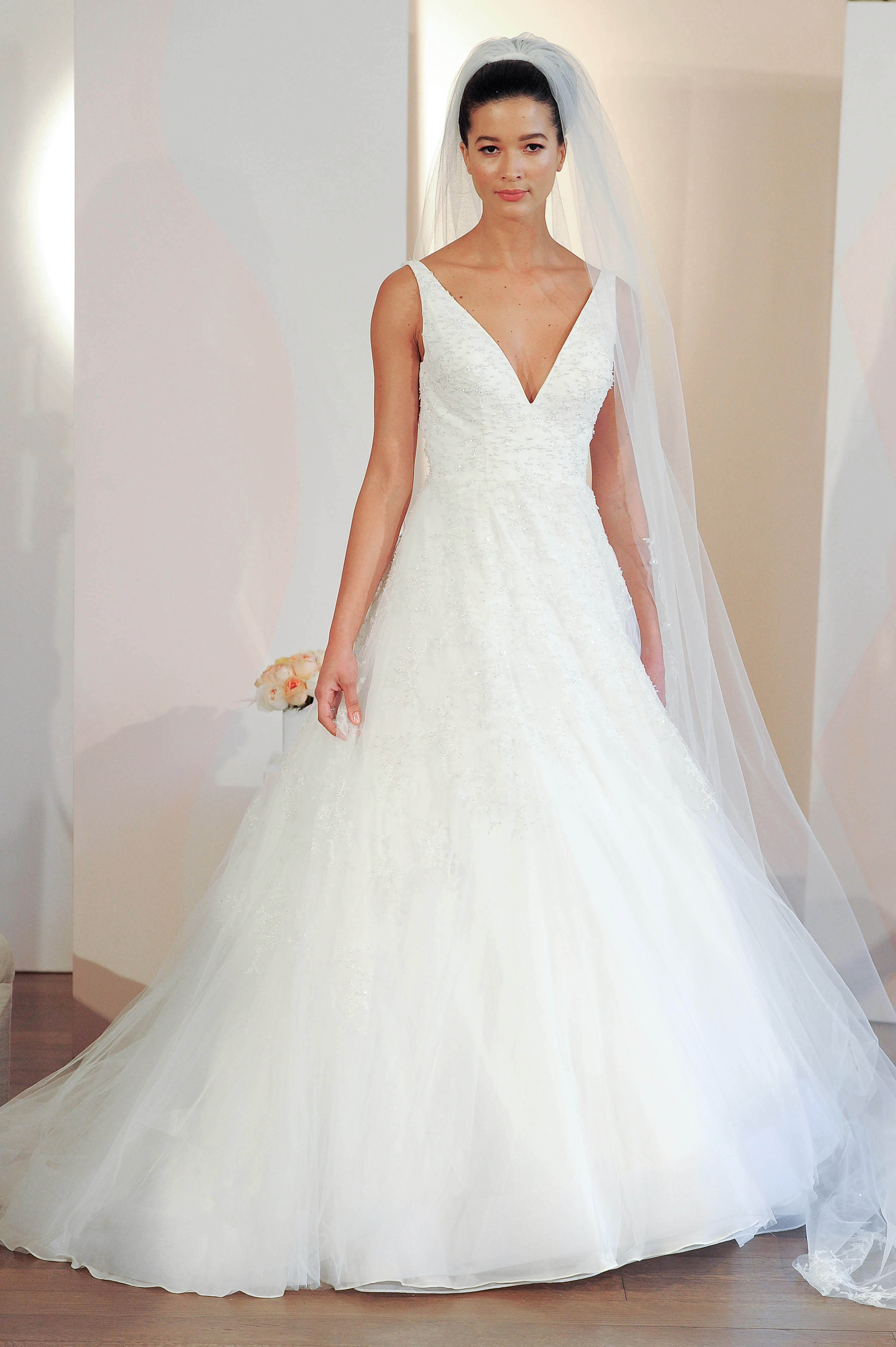 anne barge v-neck ball gown wedding dress spring 2018