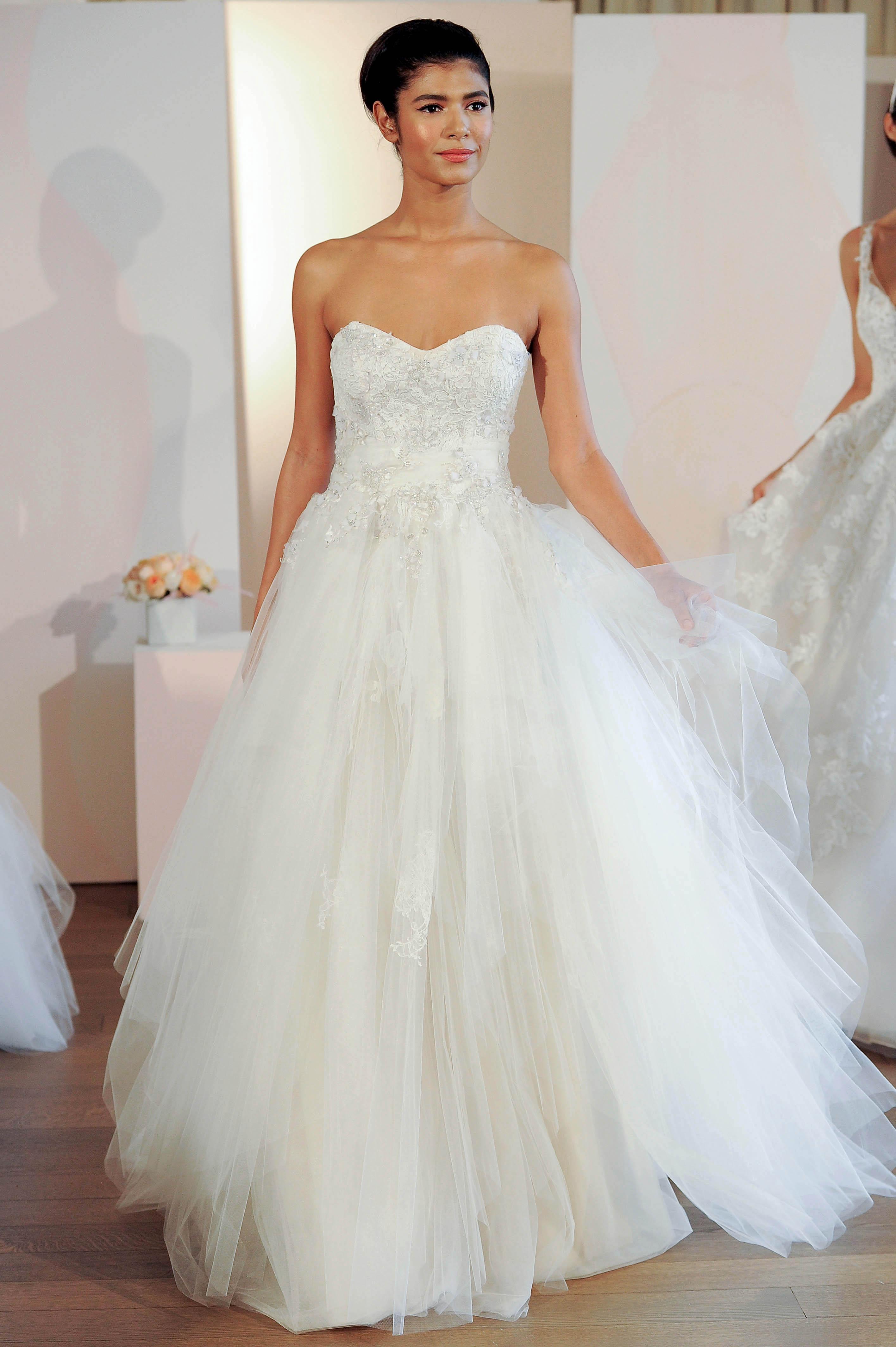 anne barge strapless tulle wedding dress spring 2018