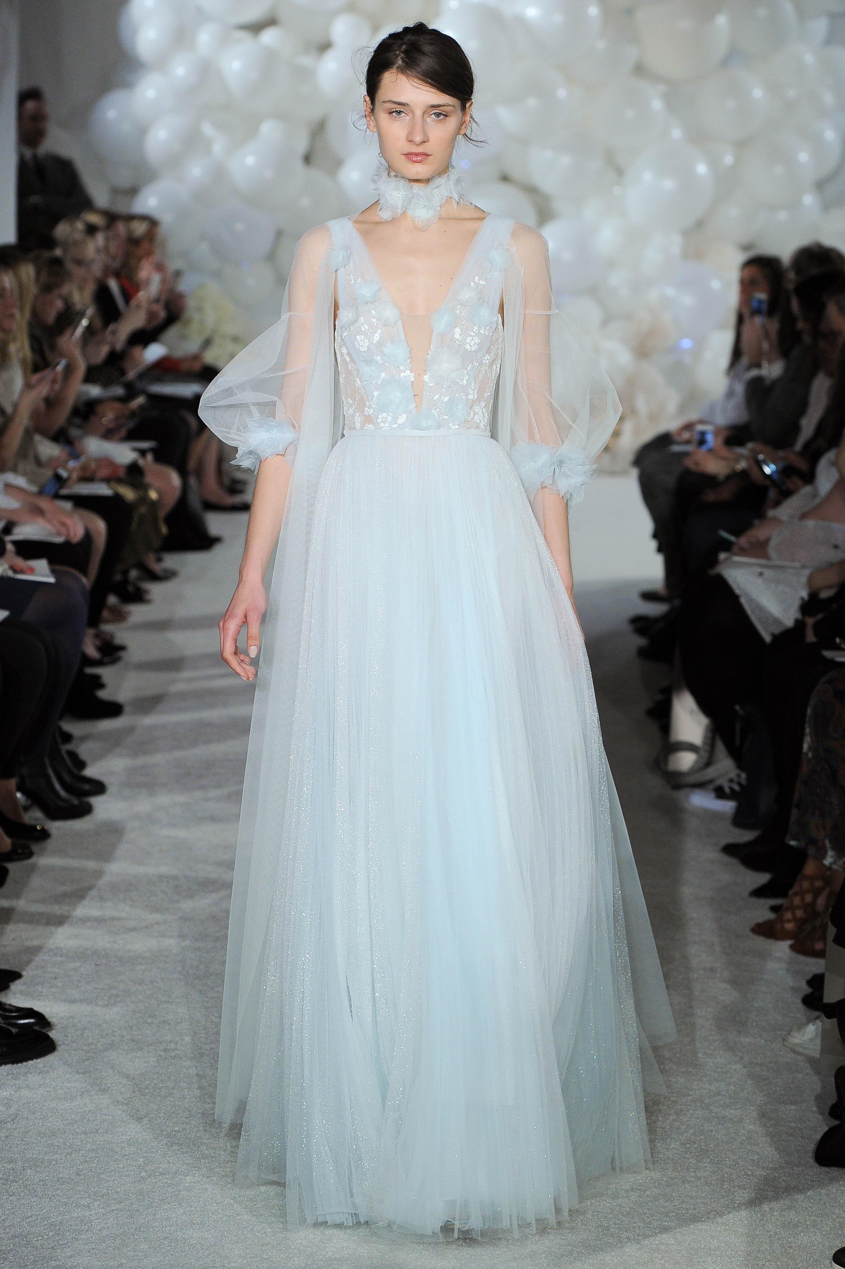 mira zwillinger blue wedding dress spring 2018 tulle