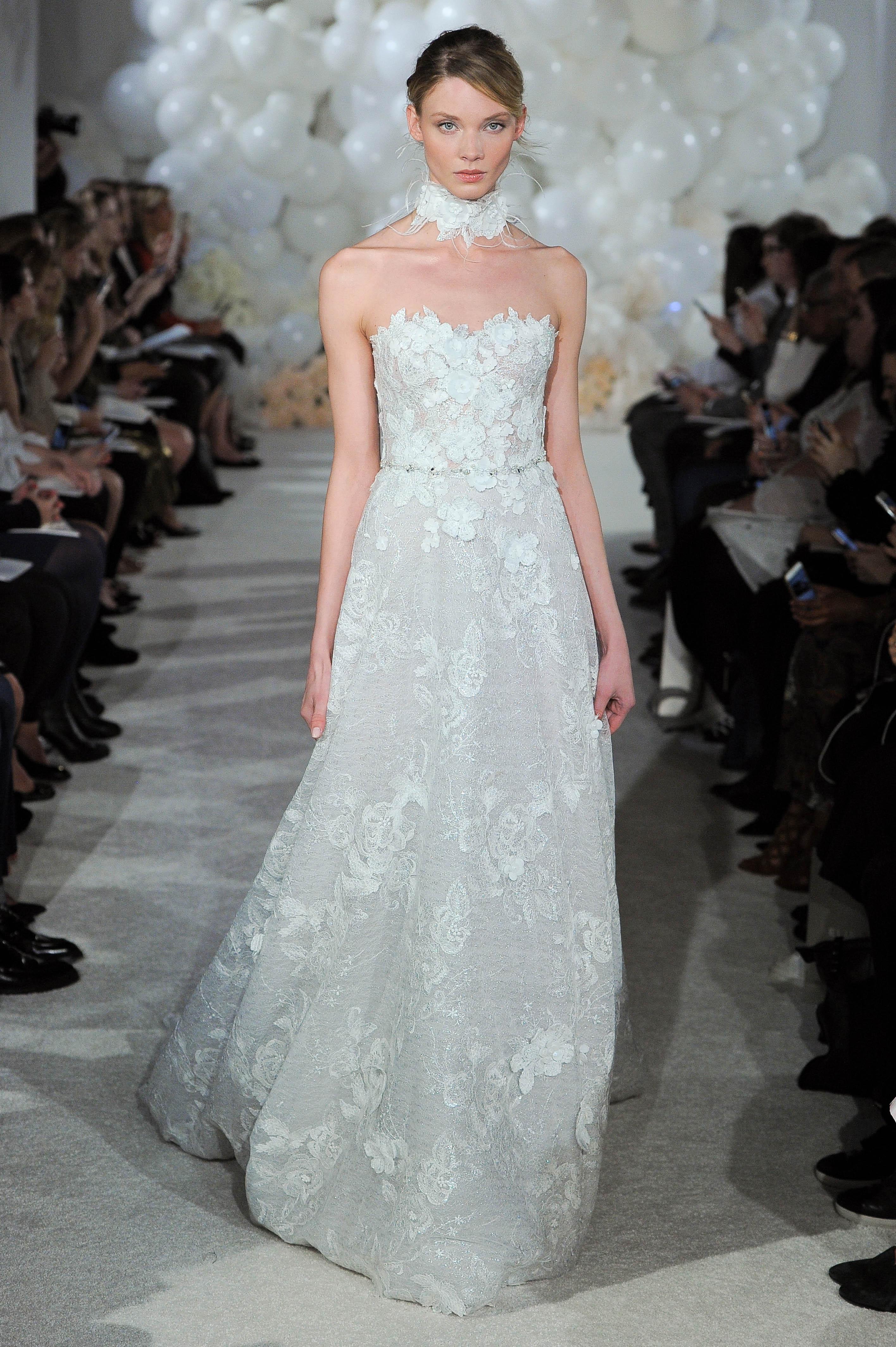 mira zwillinger wedding dress spring 2018 strapless a-line