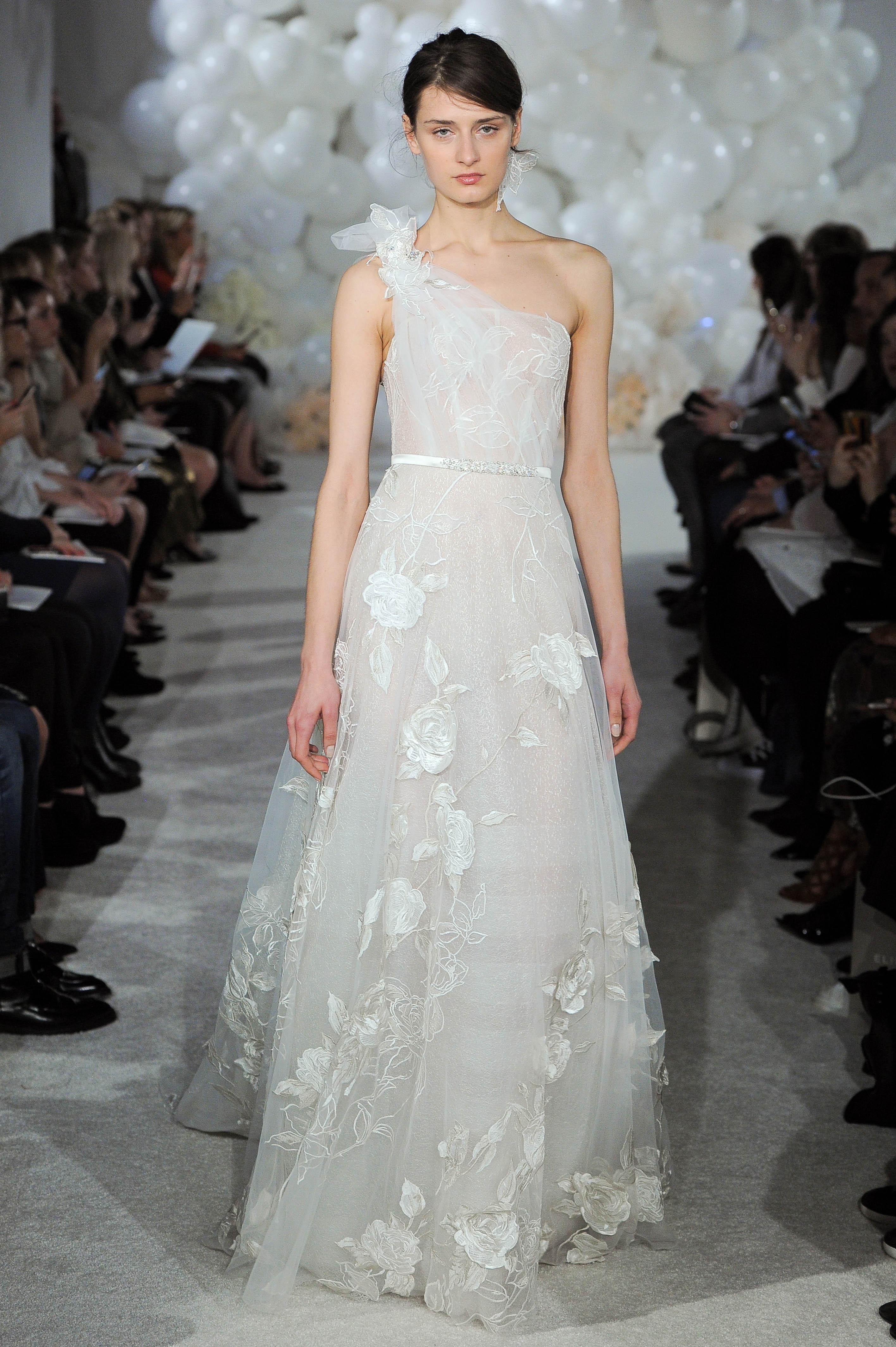 mira zwillinger wedding dress spring 2018 one-shoulder