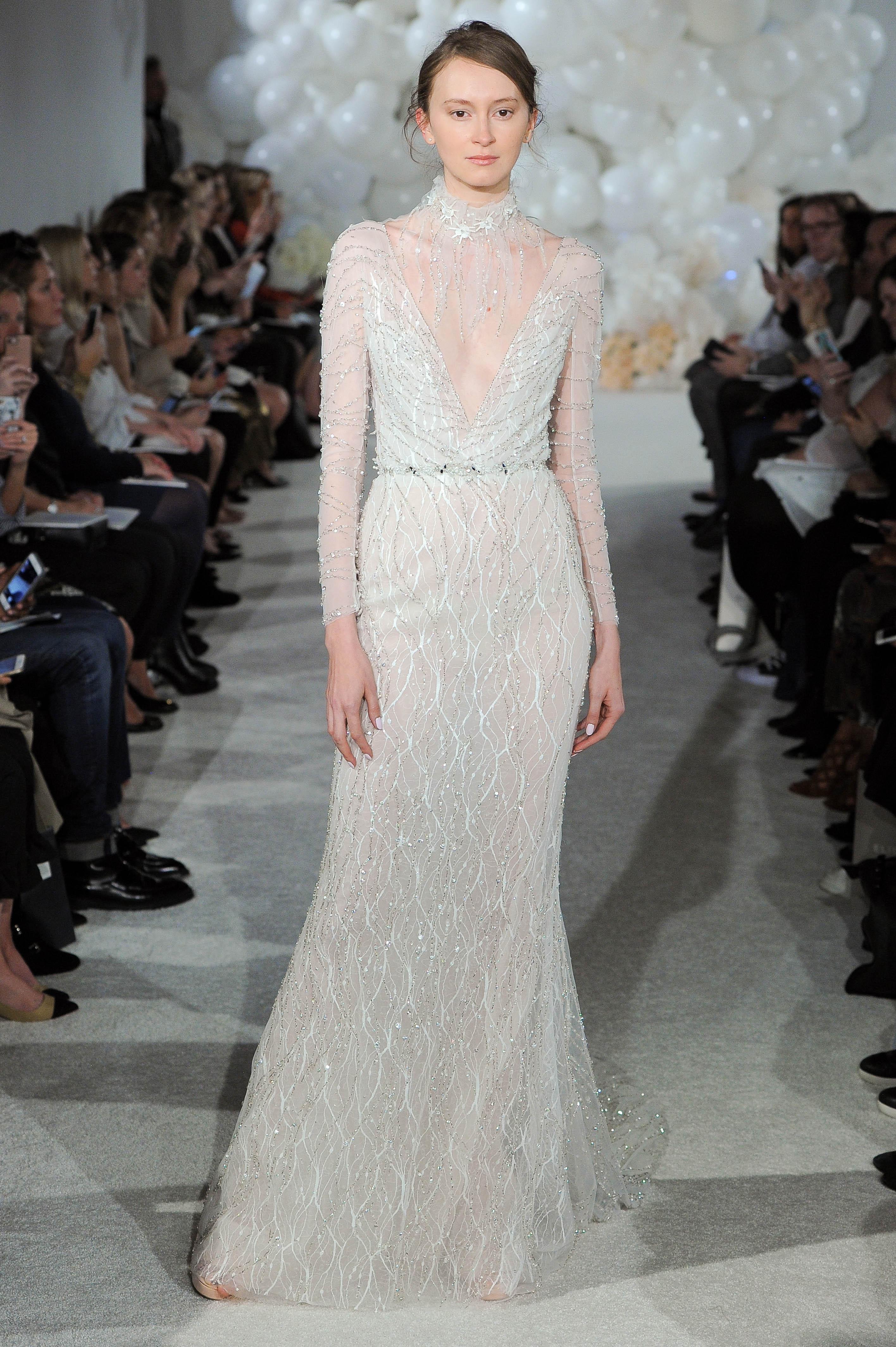 mira zwillinger wedding dress spring 2018 high neck long-sleeve