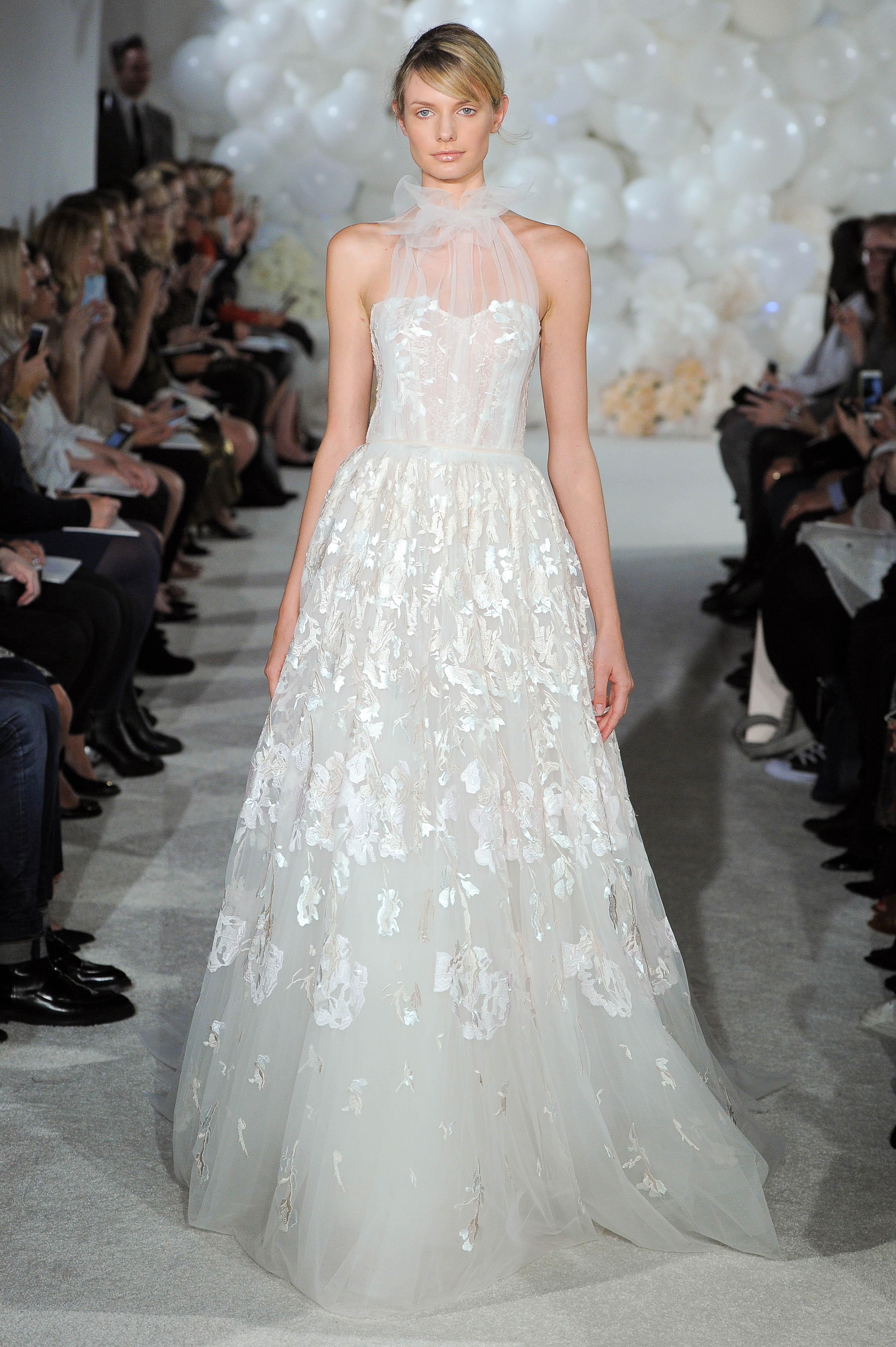 mira zwillinger wedding dress spring 2018 halter a-line