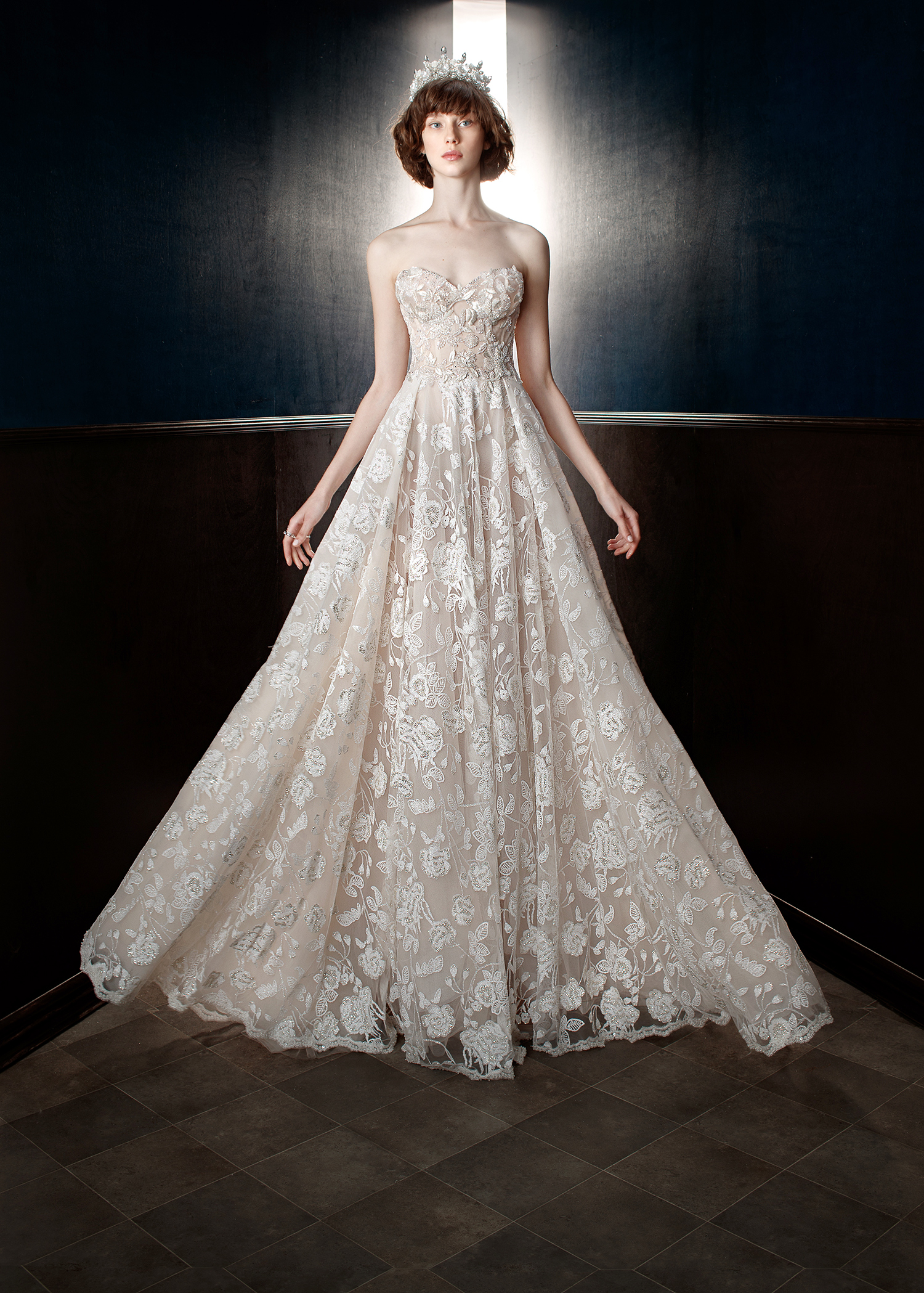 galia lahav wedding dress spring 2018 floral a-line sweetheart