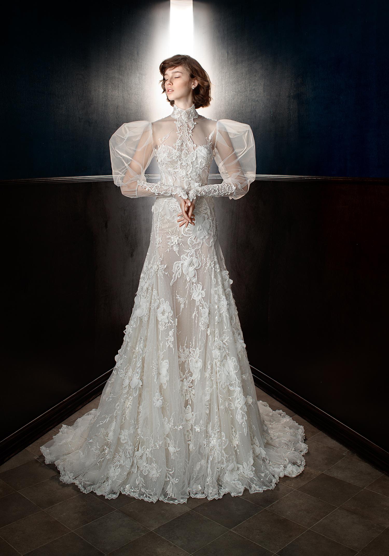 galia lahav wedding dress spring 2018 leg of mutton sleeves