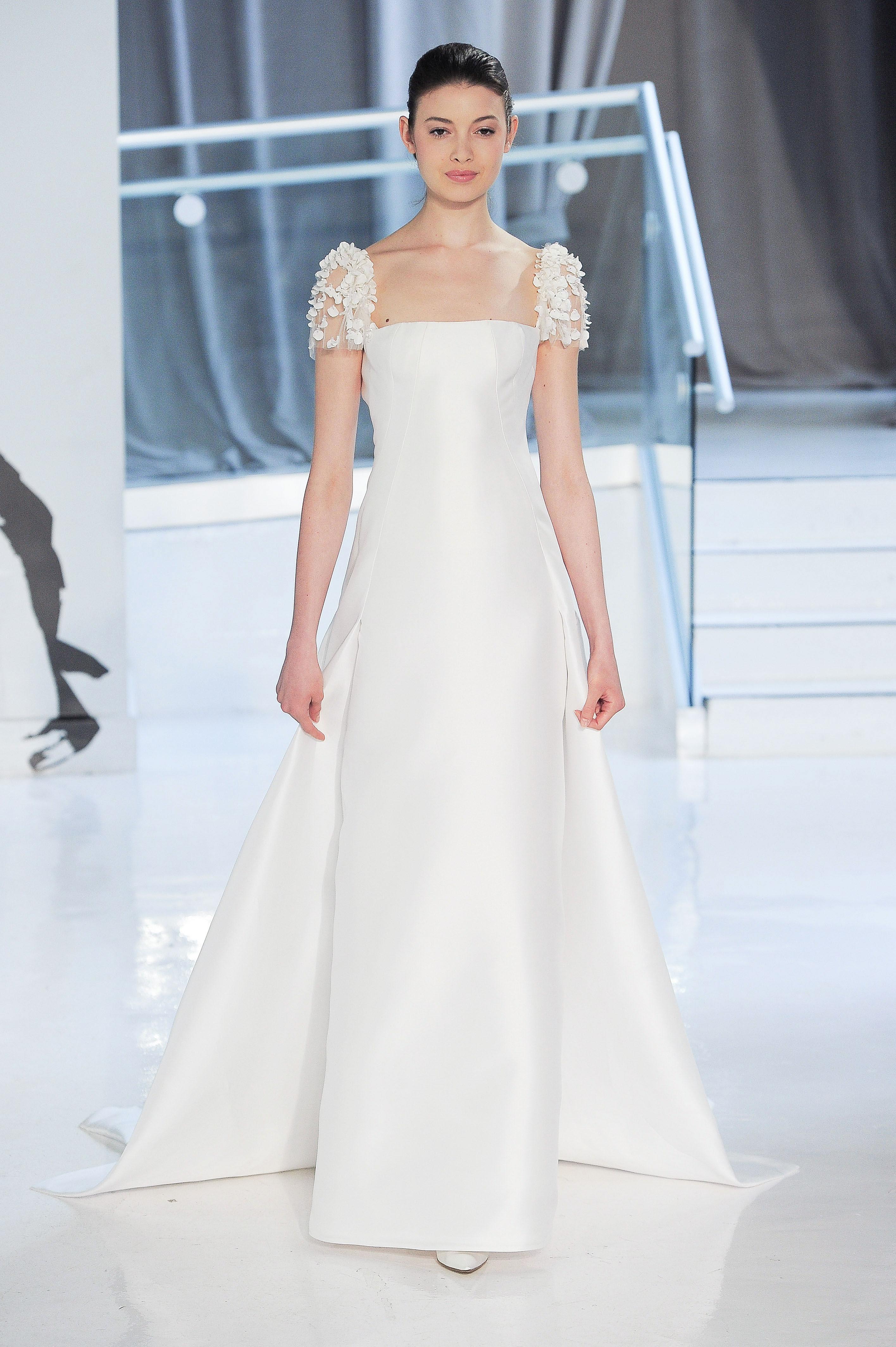 cap sleeve peter langner wedding dress spring 2018