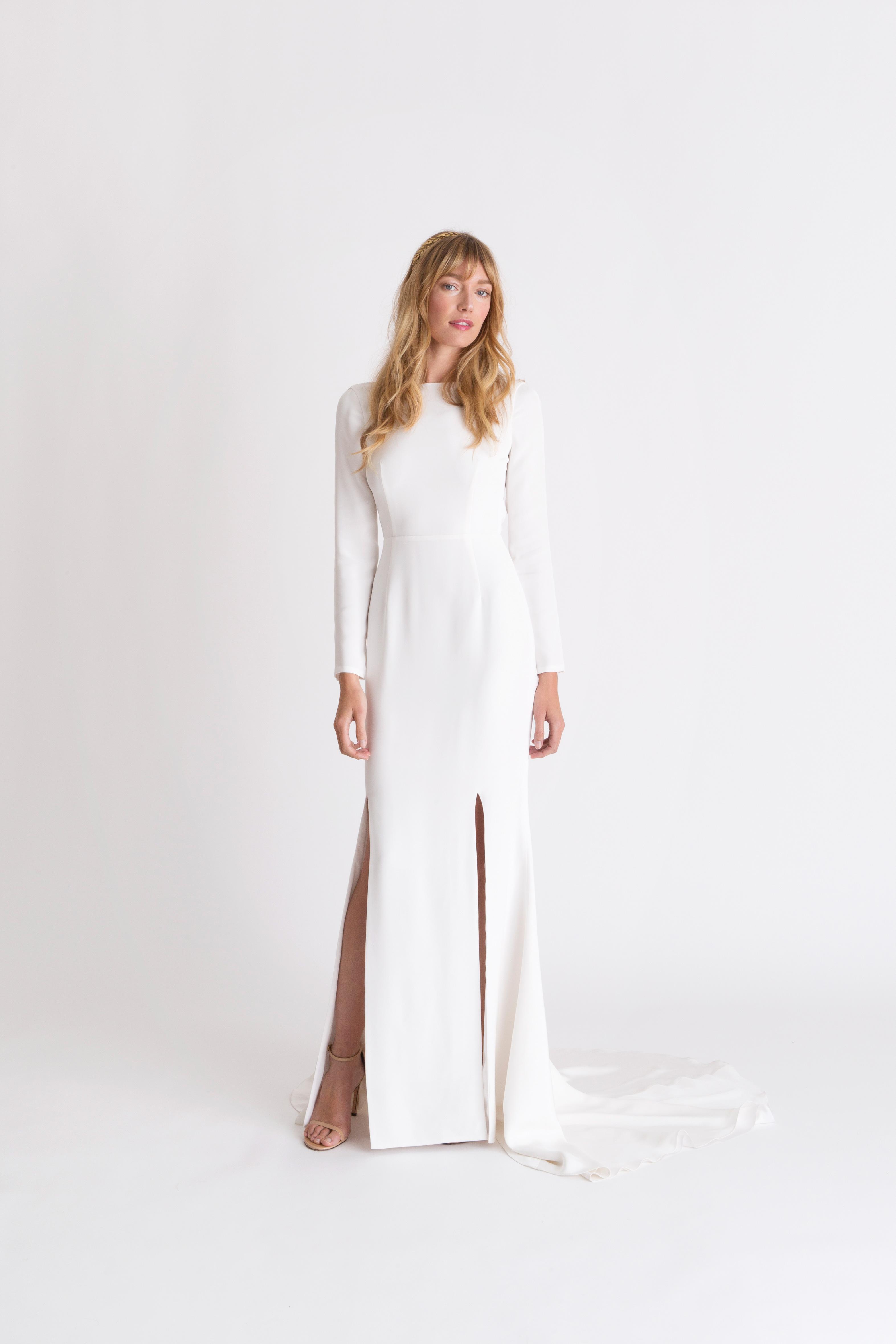 alexandra grecco long-sleeve wedding dress spring 2018