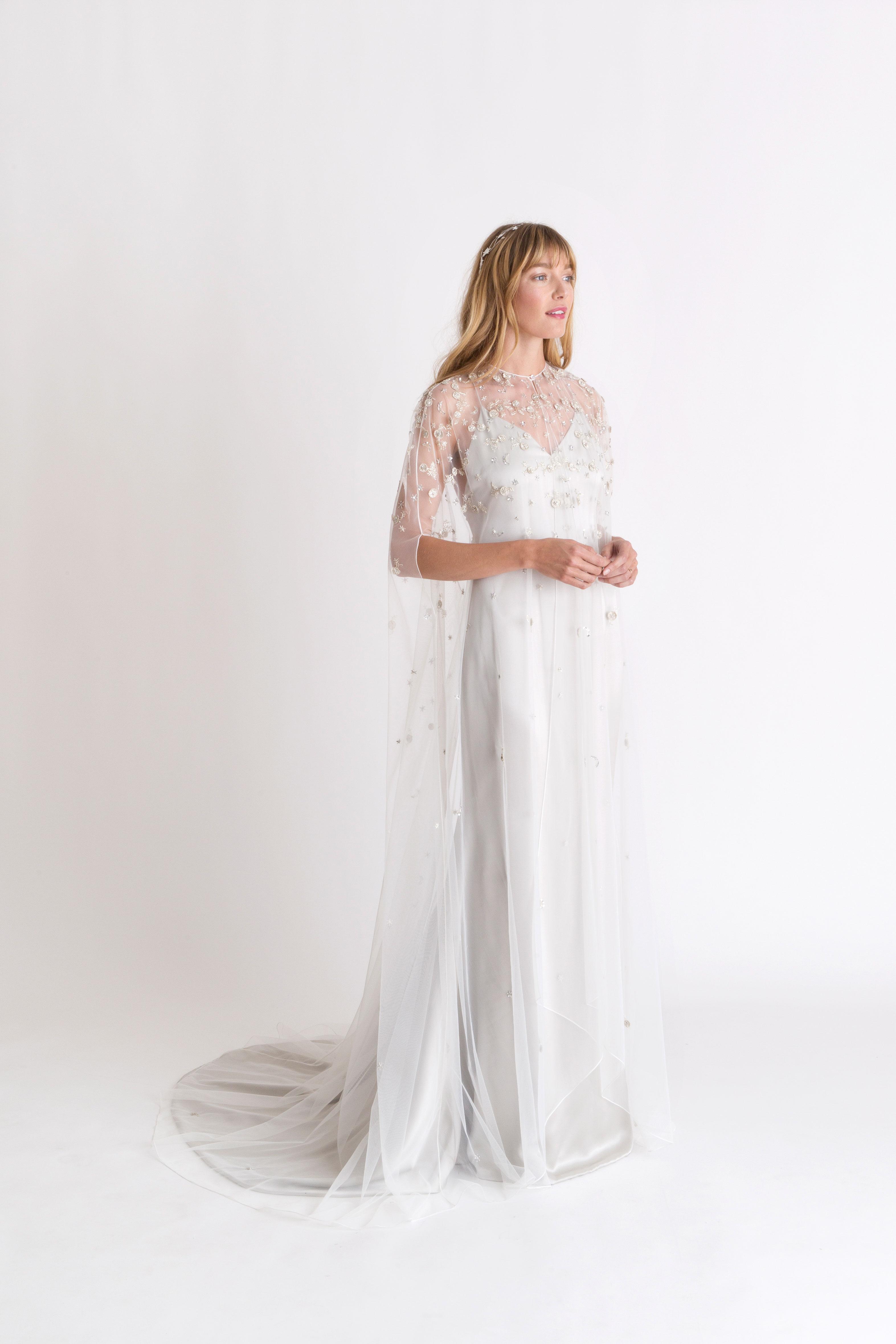 alexandra grecco sheer overlay wedding dress spring 2018