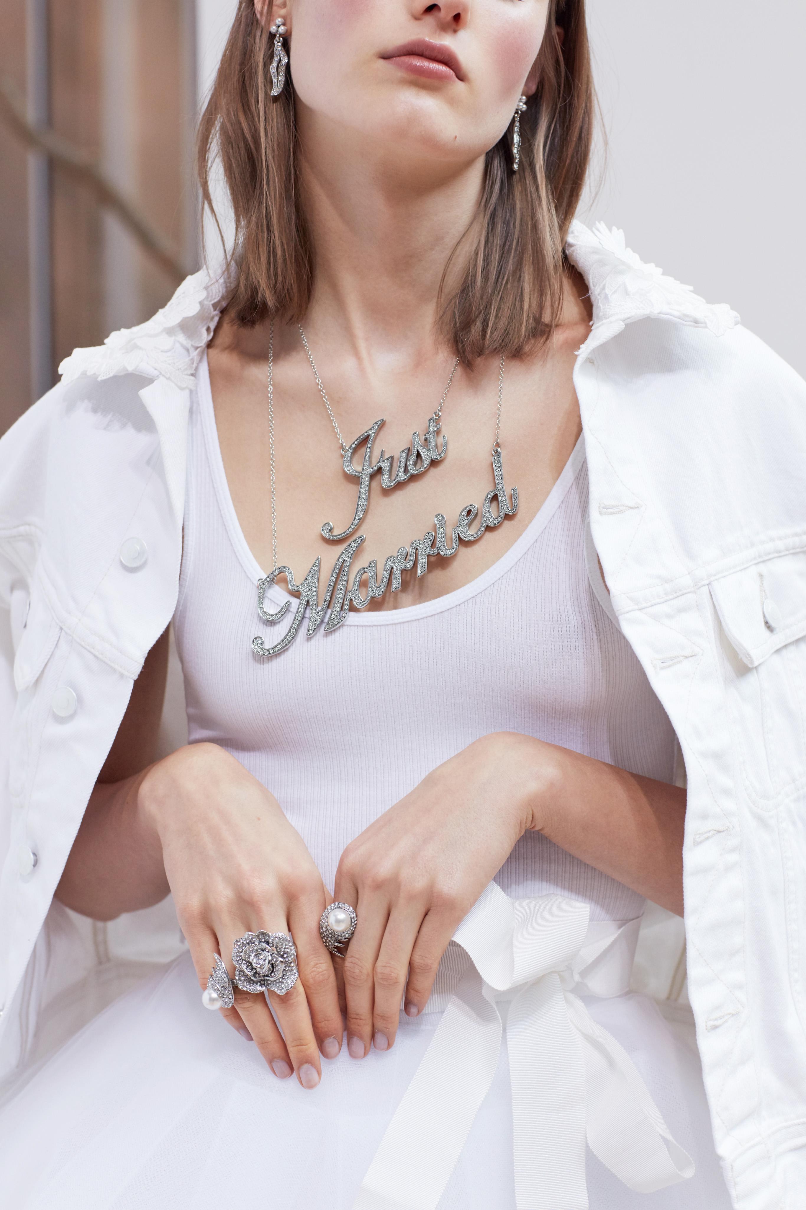 tank with jacket Oscar de la Renta Spring 2018 Wedding Dress Collection