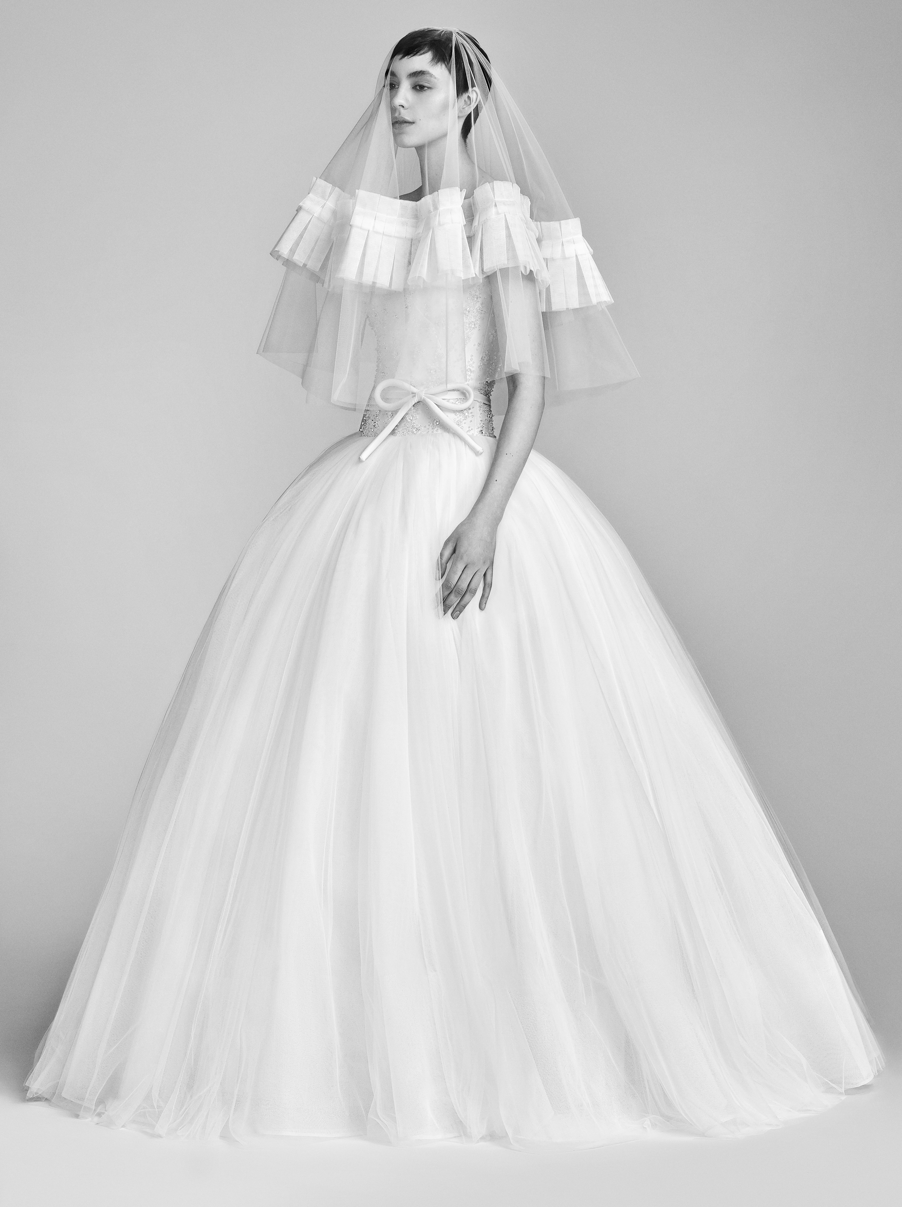 Viktor&Rolf Ball Gown Wedding Dress with Tulle Spring 2018