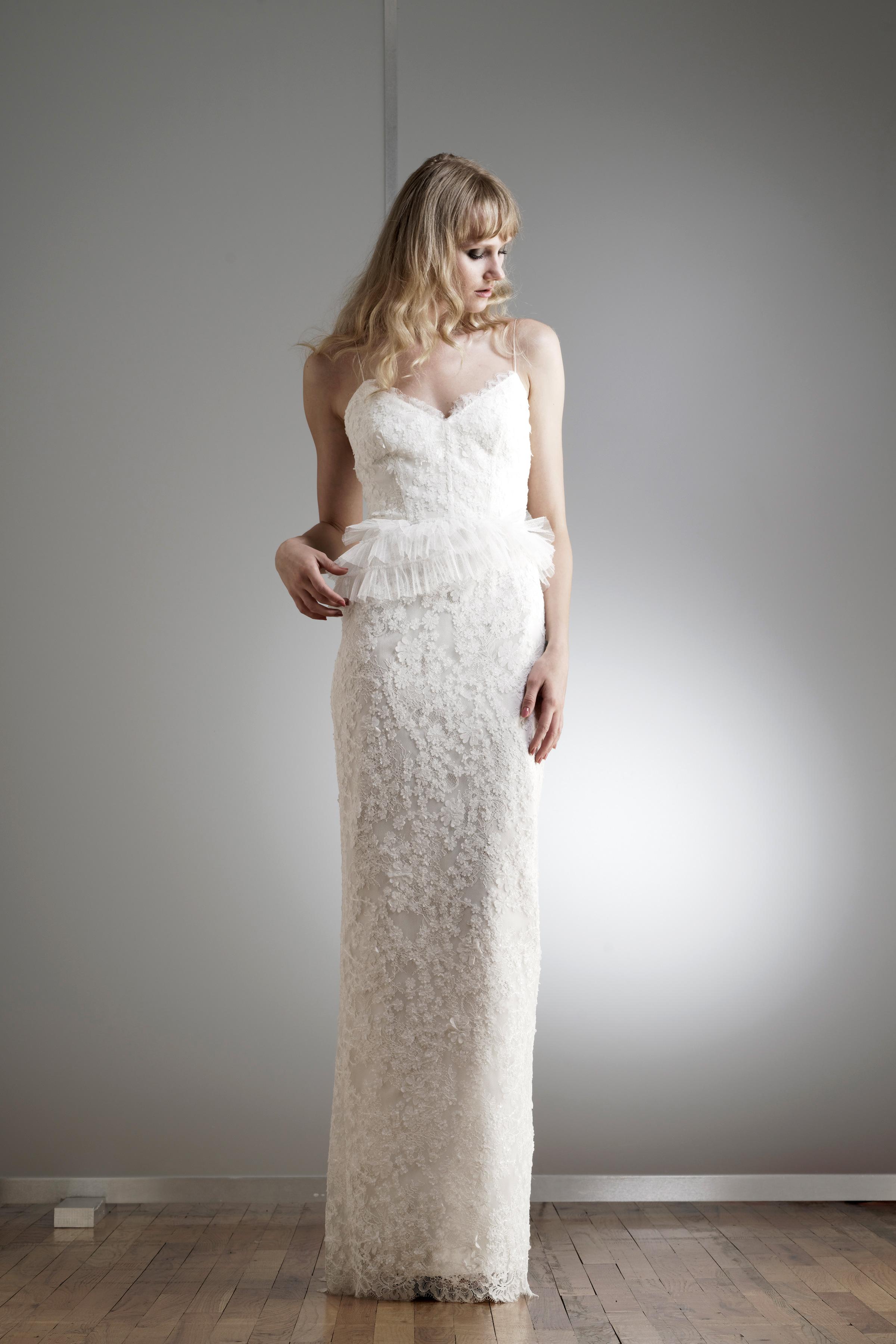 elizabeth fillmore spaghetti strap wedding dress spring 2018