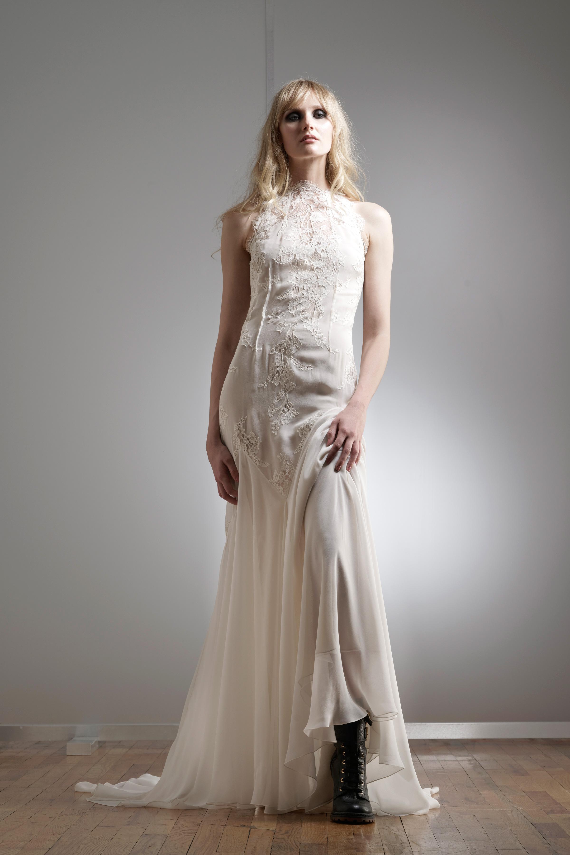 elizabeth fillmore high-neck wedding dress spring 2018
