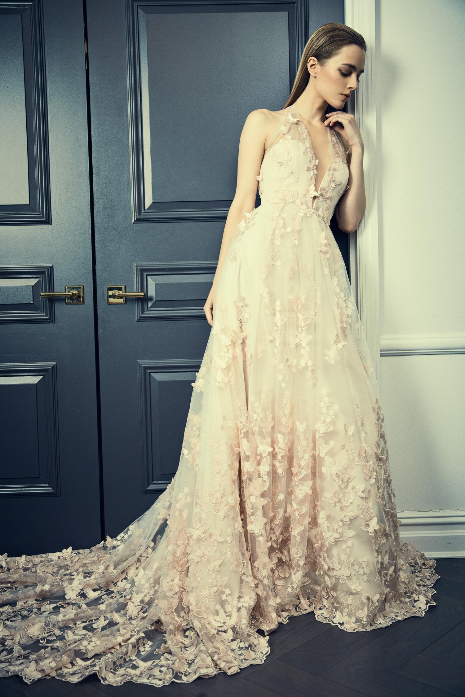 romona keveza collection wedding dress spring 2018 v-neck lace