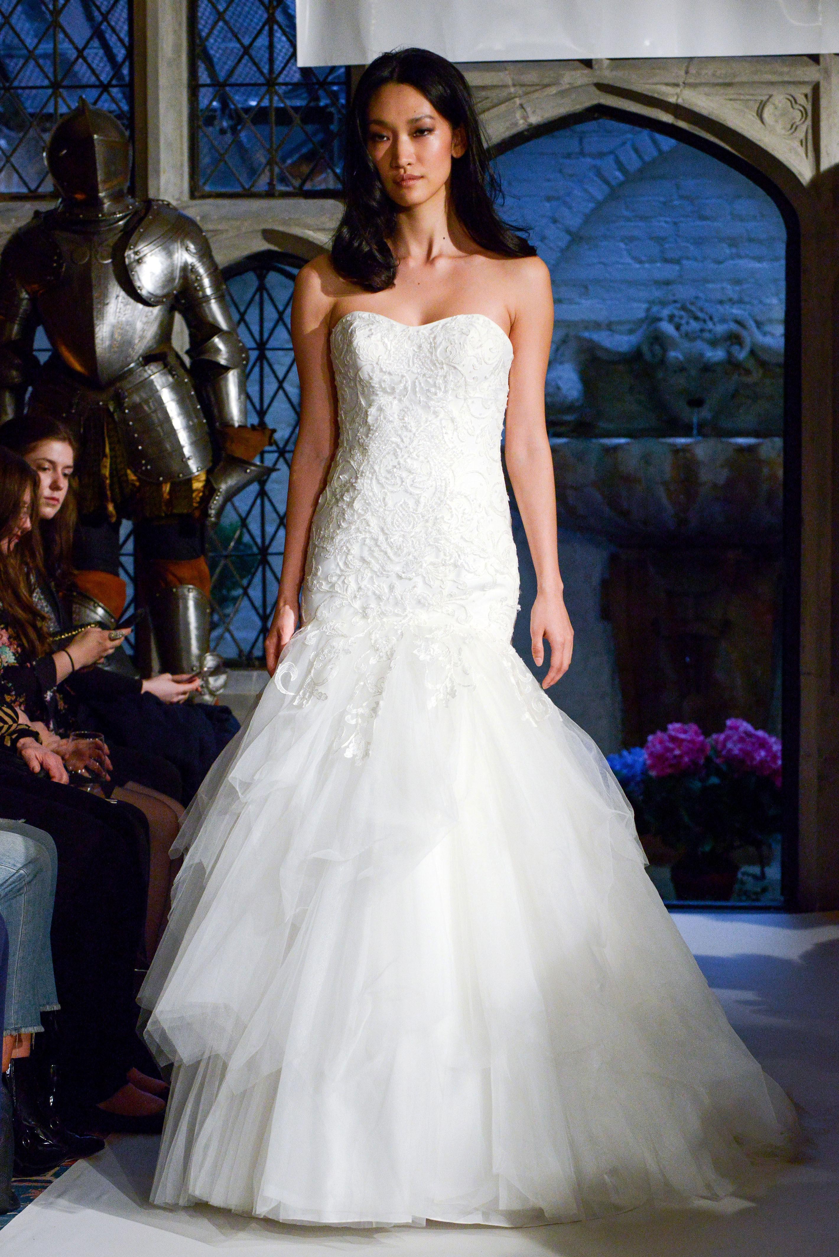 oleg cassini trumpet wedding dress spring 2018