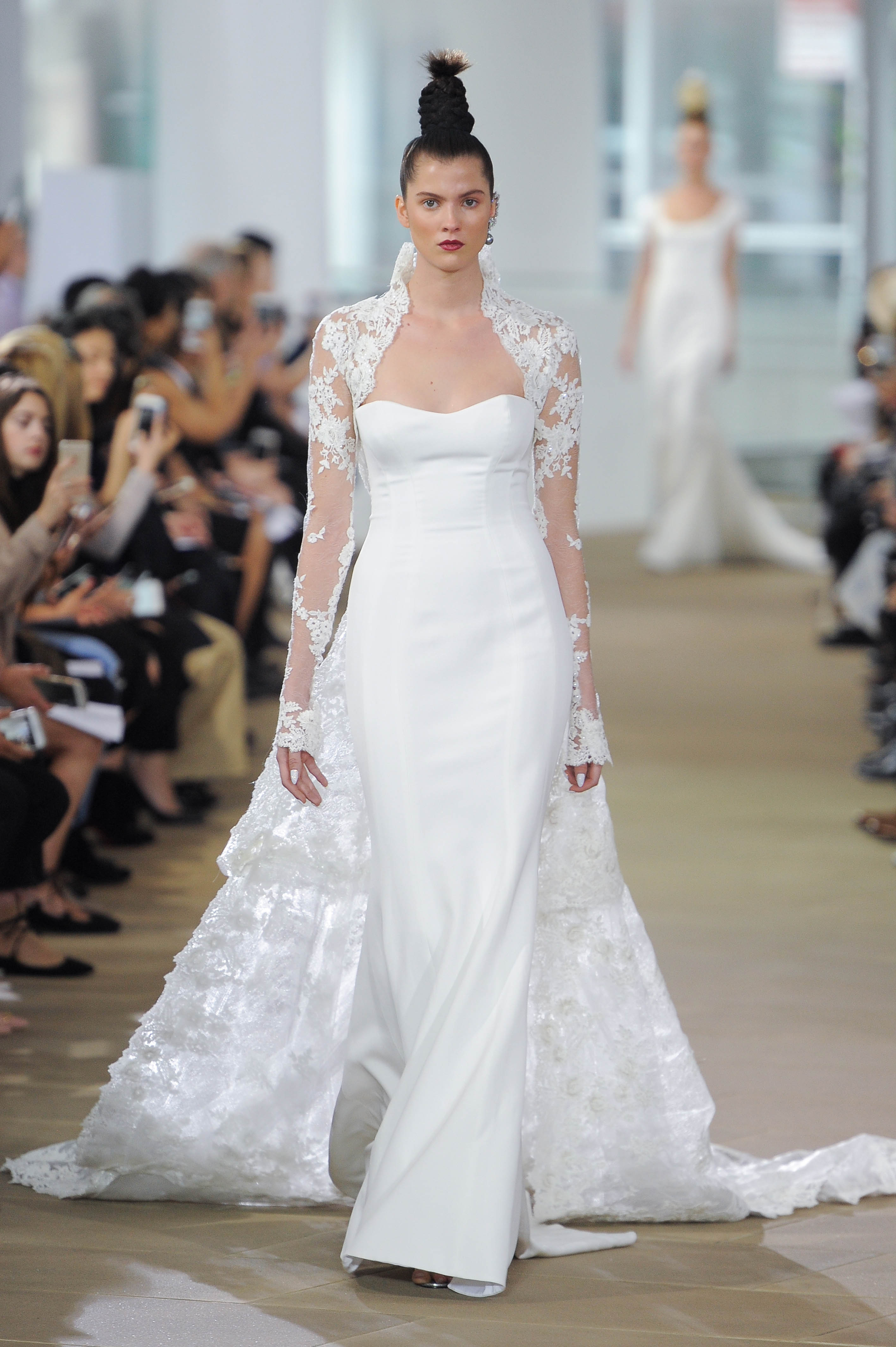 Ines Di Santo Long Sleeve Wedding Dress with Sweetheart Neckline Spring 2018