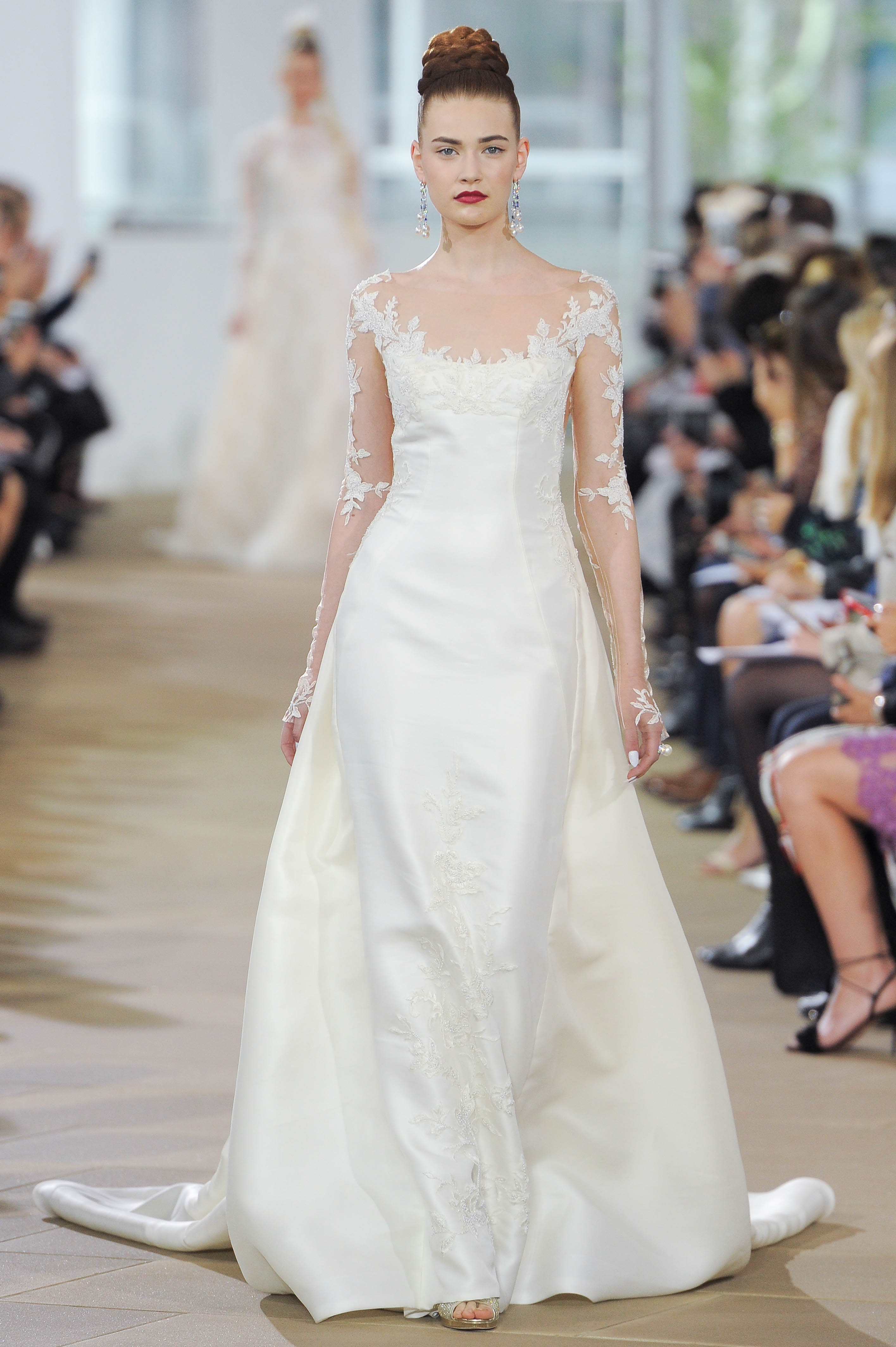 ines di santo floral sleeve wedding dress spring 2018