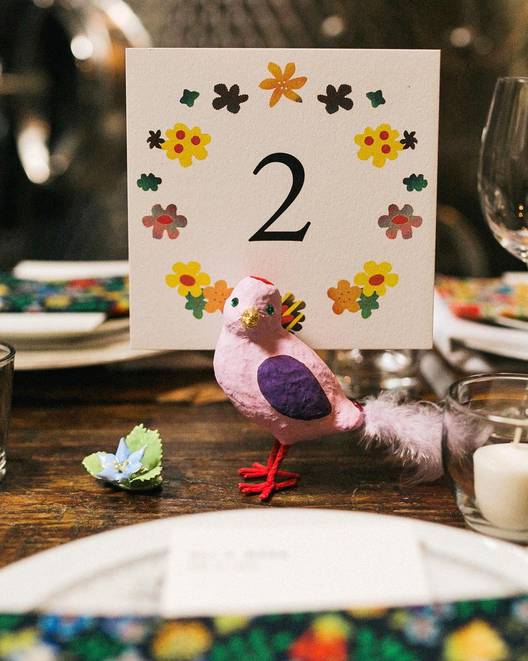 alissa mark wedding table number