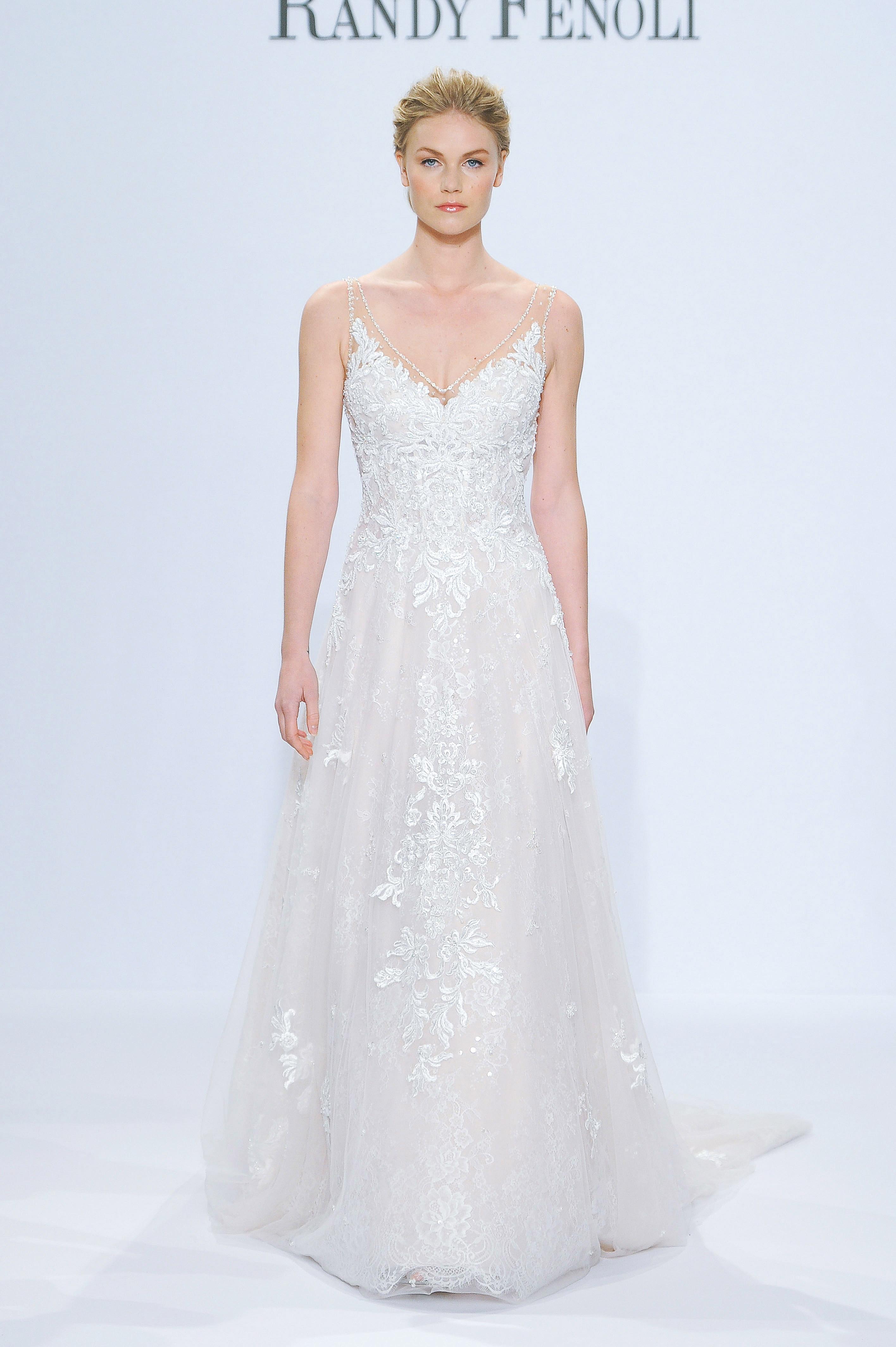 randy fenoli v-neck wedding dress spring 2018