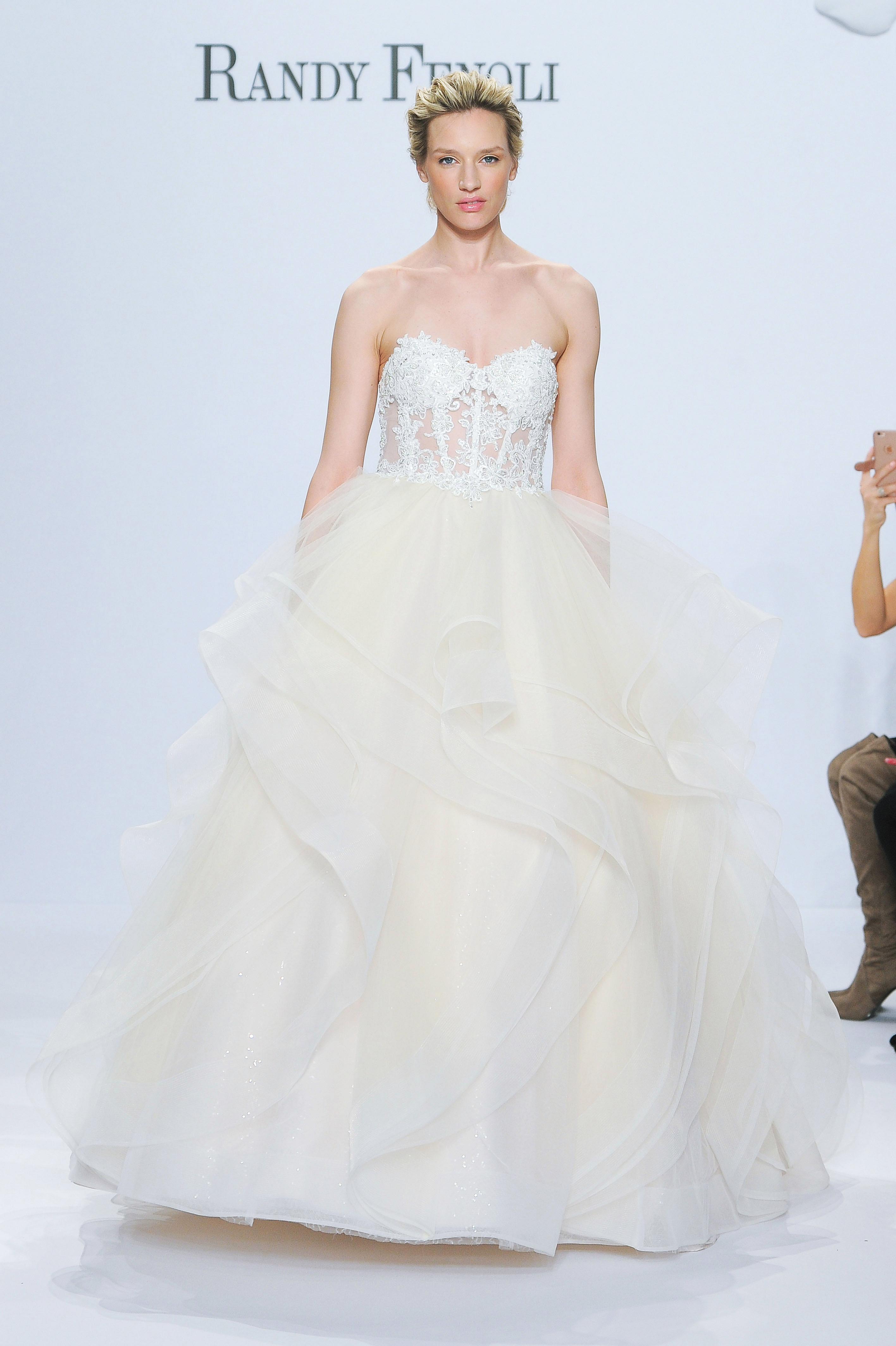 randy fenoli strapless ball gown wedding dress spring 2018