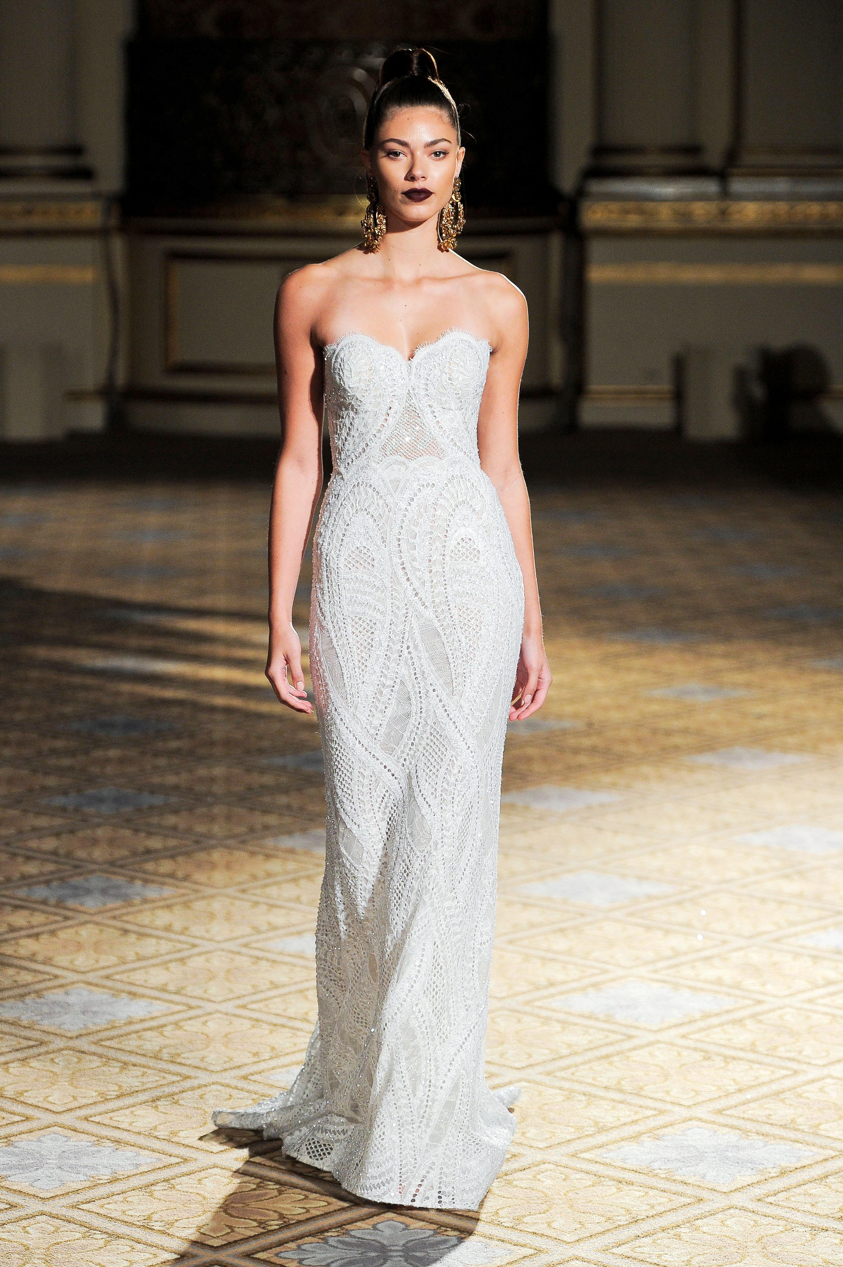 berta sweetheart lace wedding dress spring 2018
