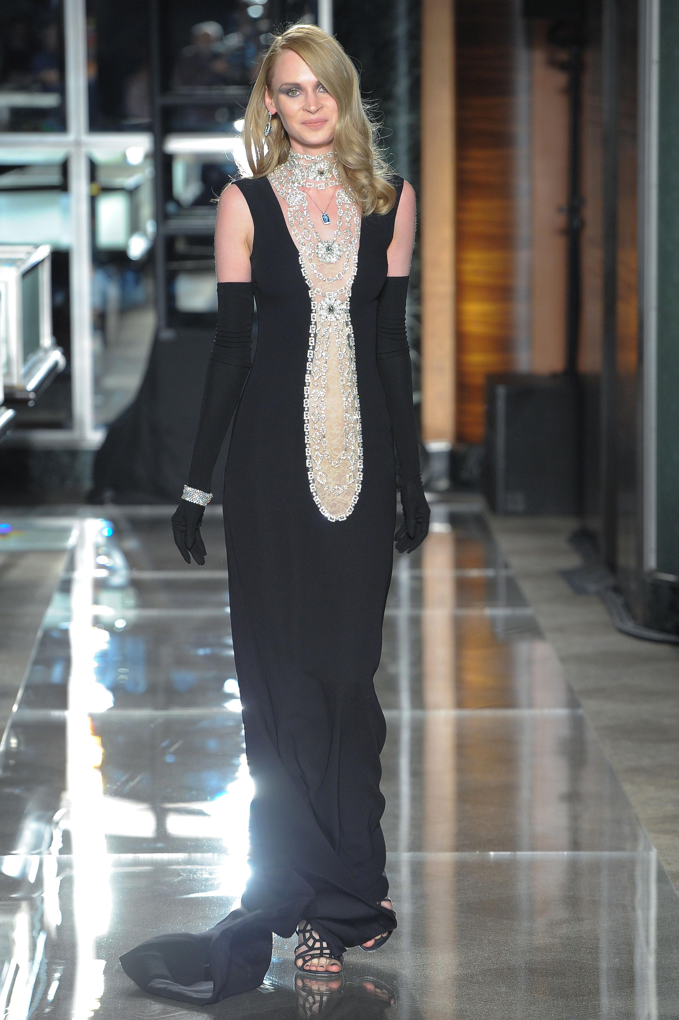 reem acra spring 2018 black wedding dress