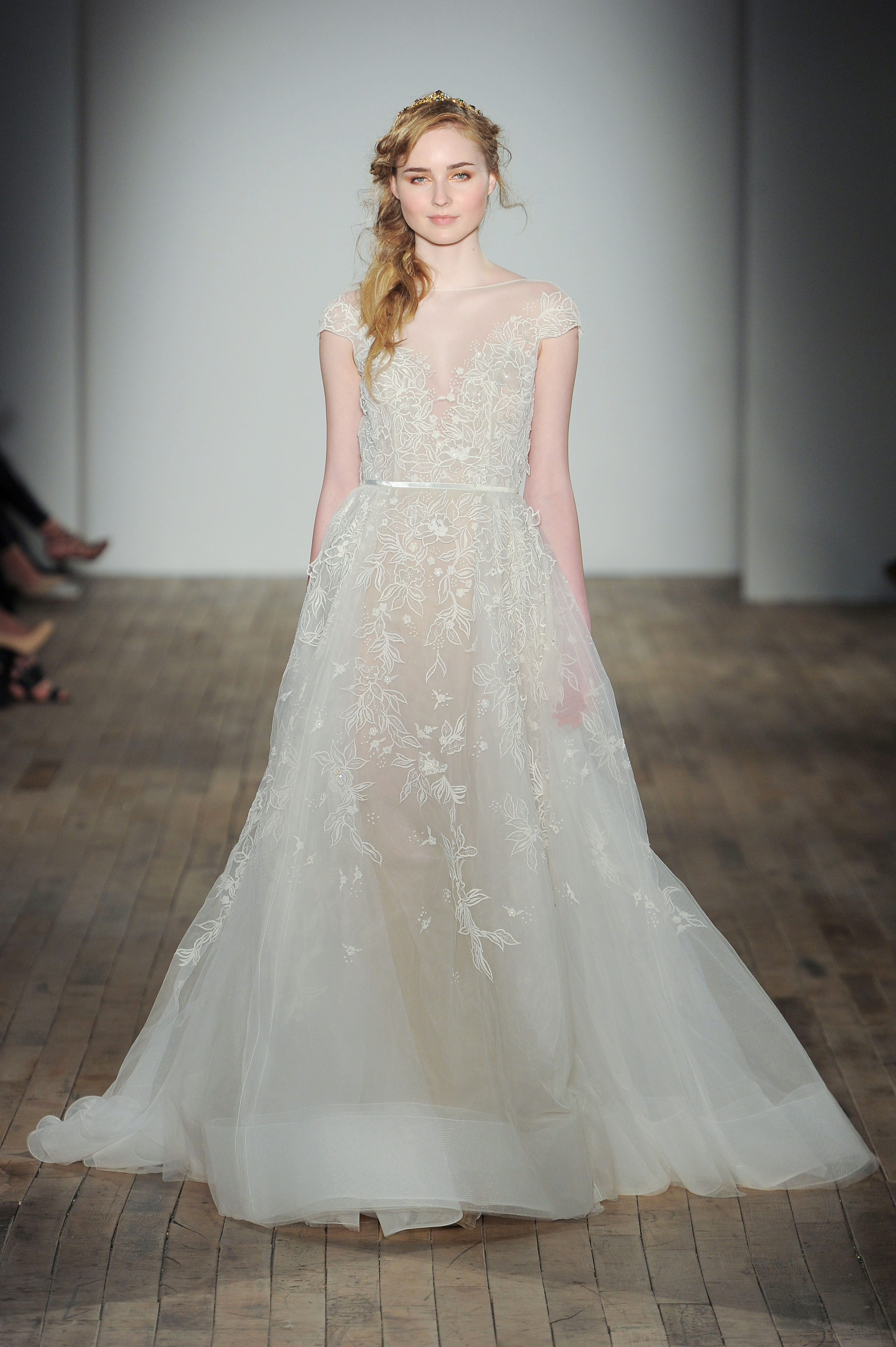 illusion organza a-line Hayley Paige Spring 2018 Wedding Dress Collection