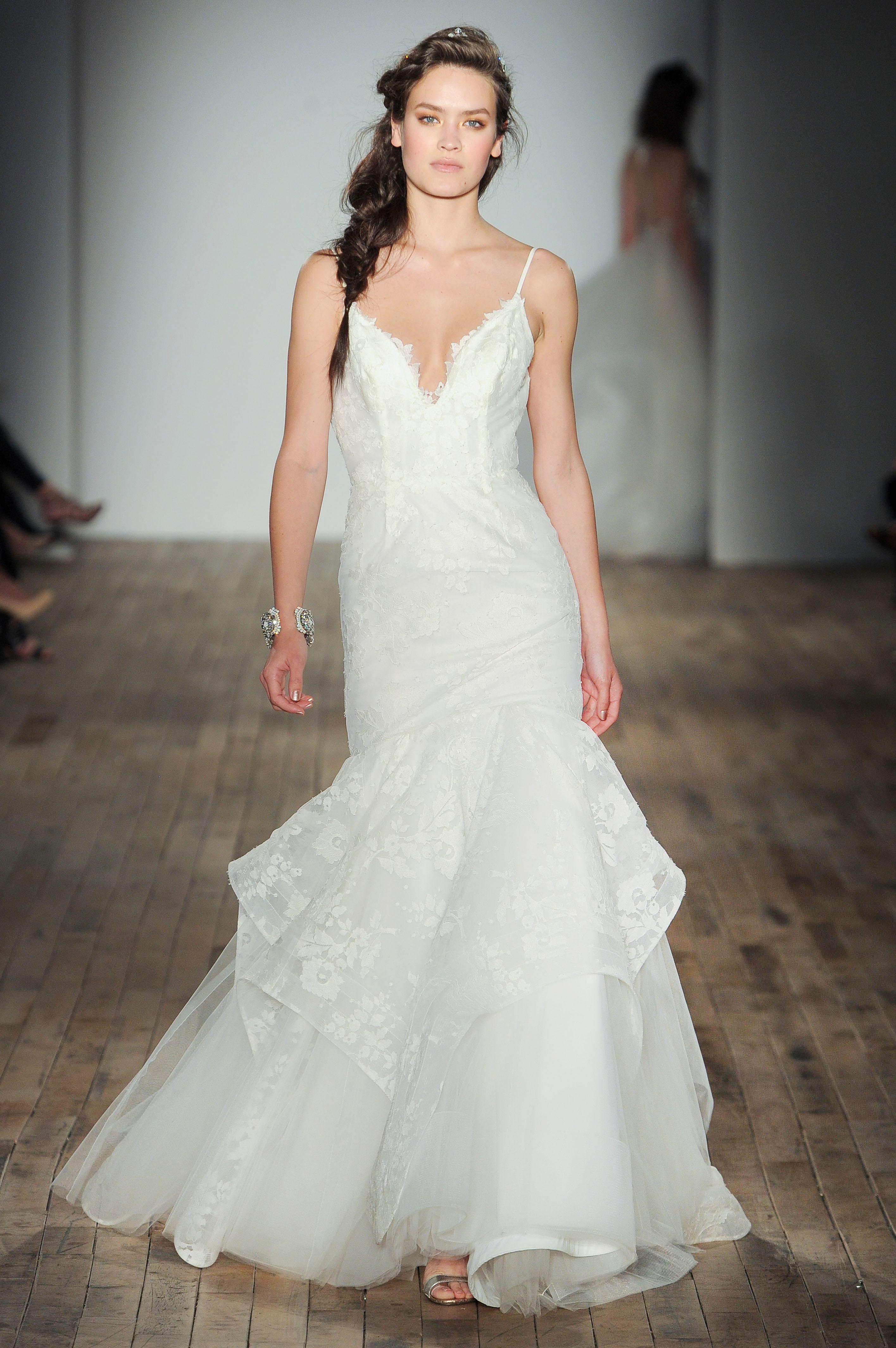 spaghetti strap mermaid Hayley Paige Spring 2018 Wedding Dress Collection