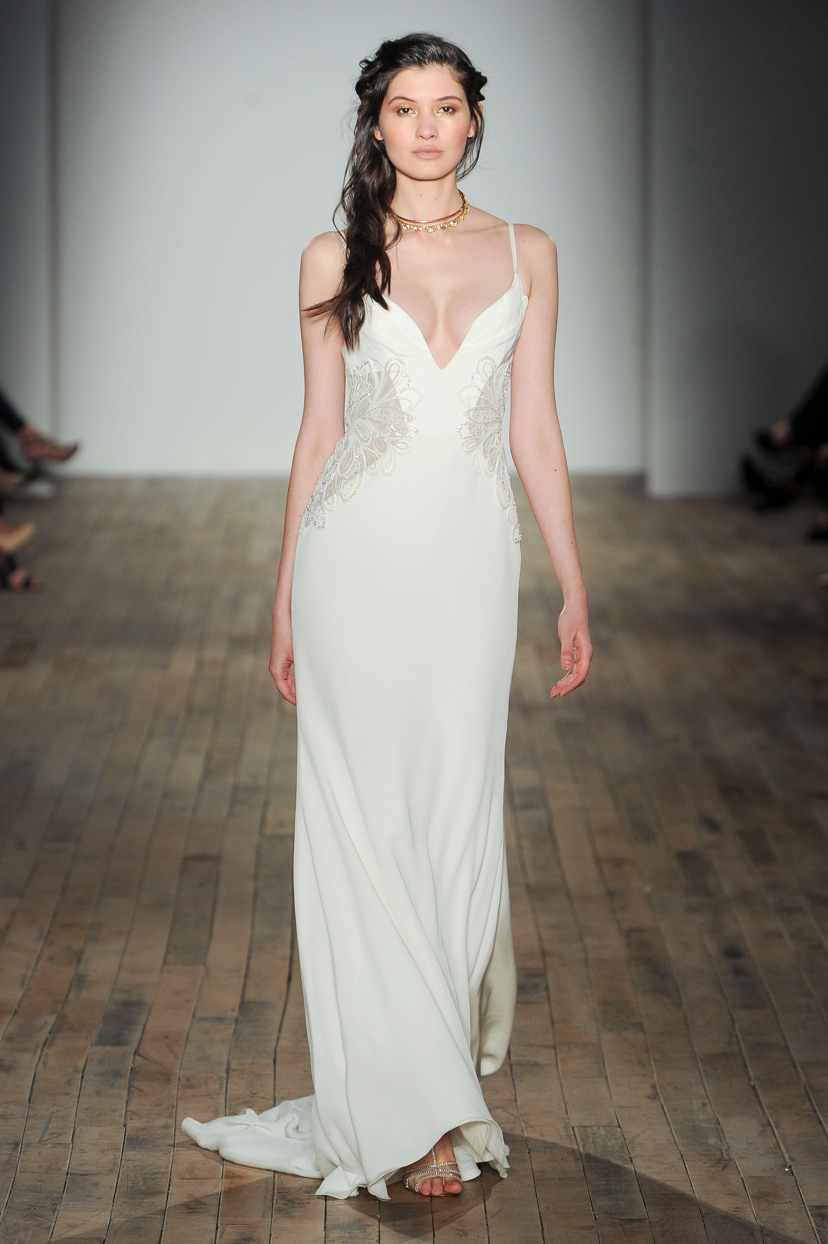 spaghetti strap sheath Hayley Paige Spring 2018 Wedding Dress Collection