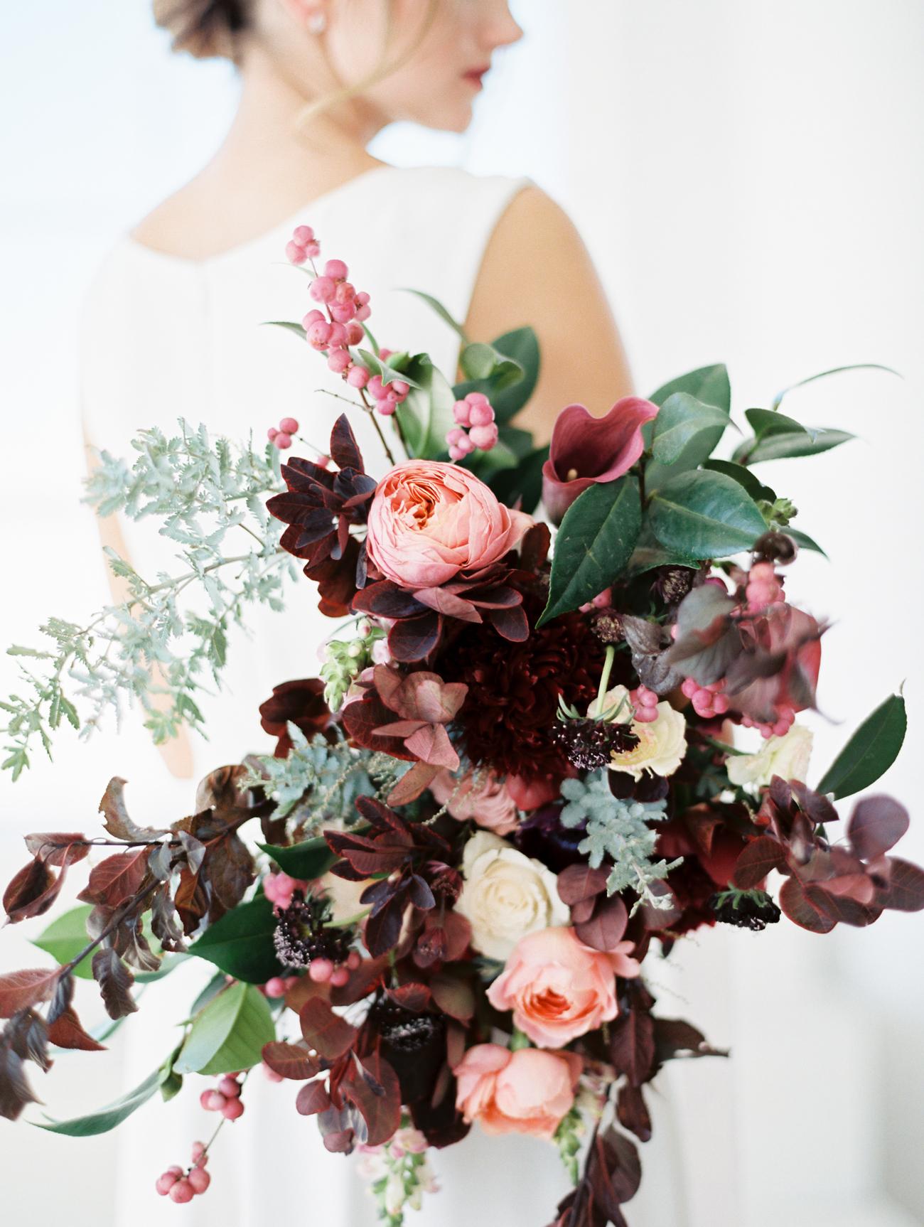Merlot wedding bouquet