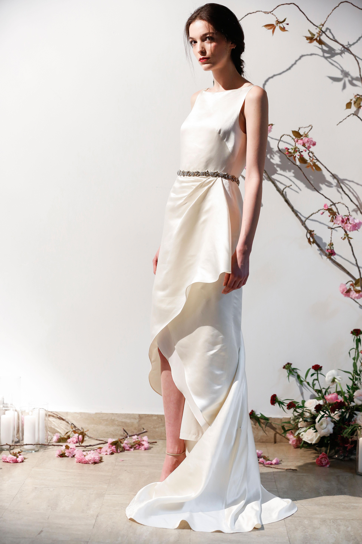 Mason Hosker layered beaded waist wedding dress spring 2018