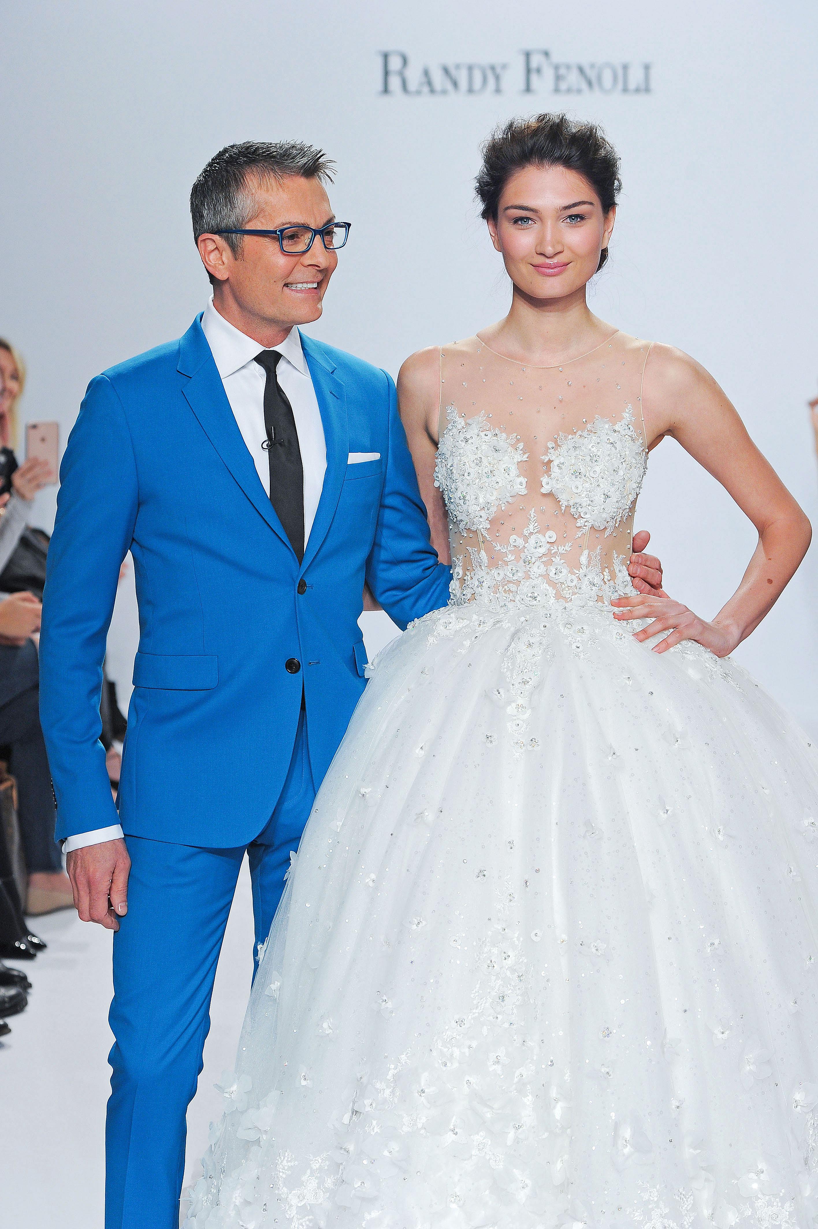 randy fenoli sheer top wedding dress spring 2018
