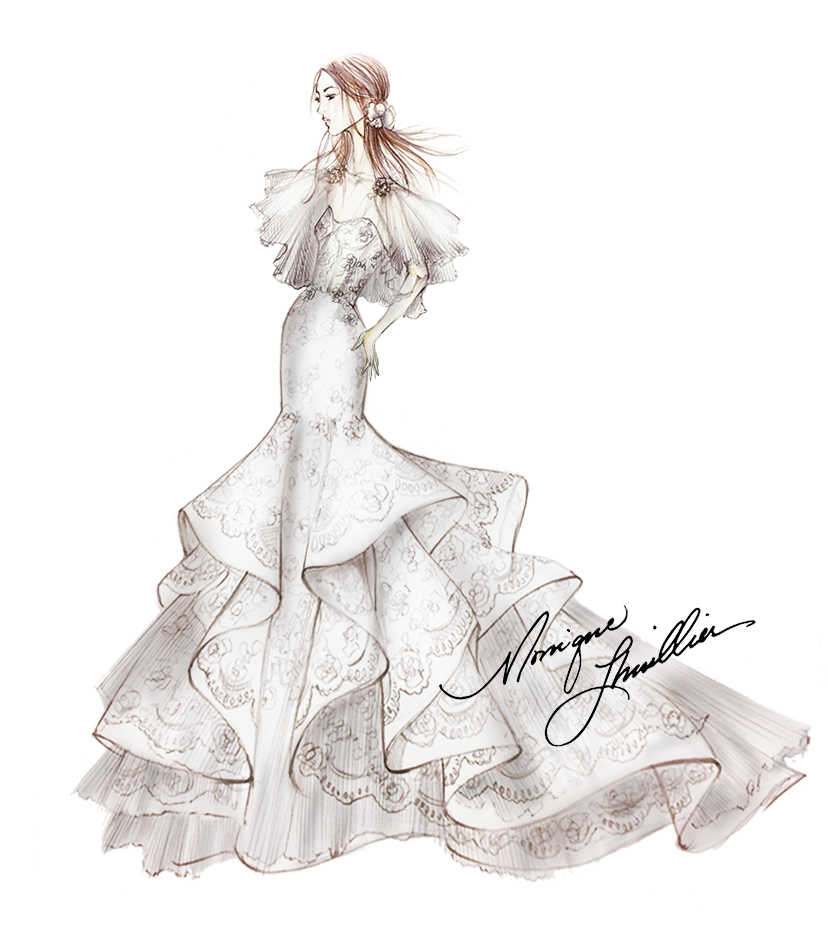 Spring 2018 BFW Sketches Monique Lhuillier