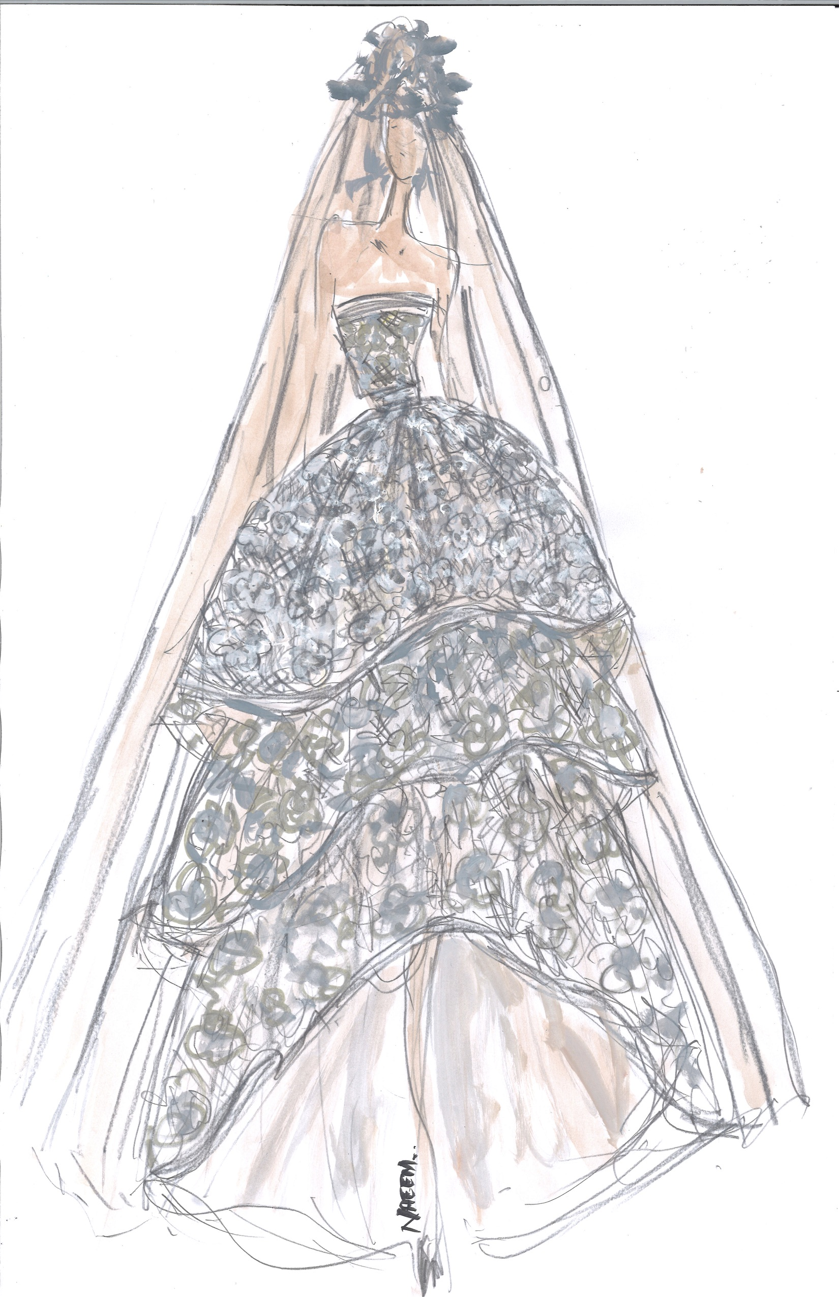 Spring 2018 BFW Sketches Naeem Khan