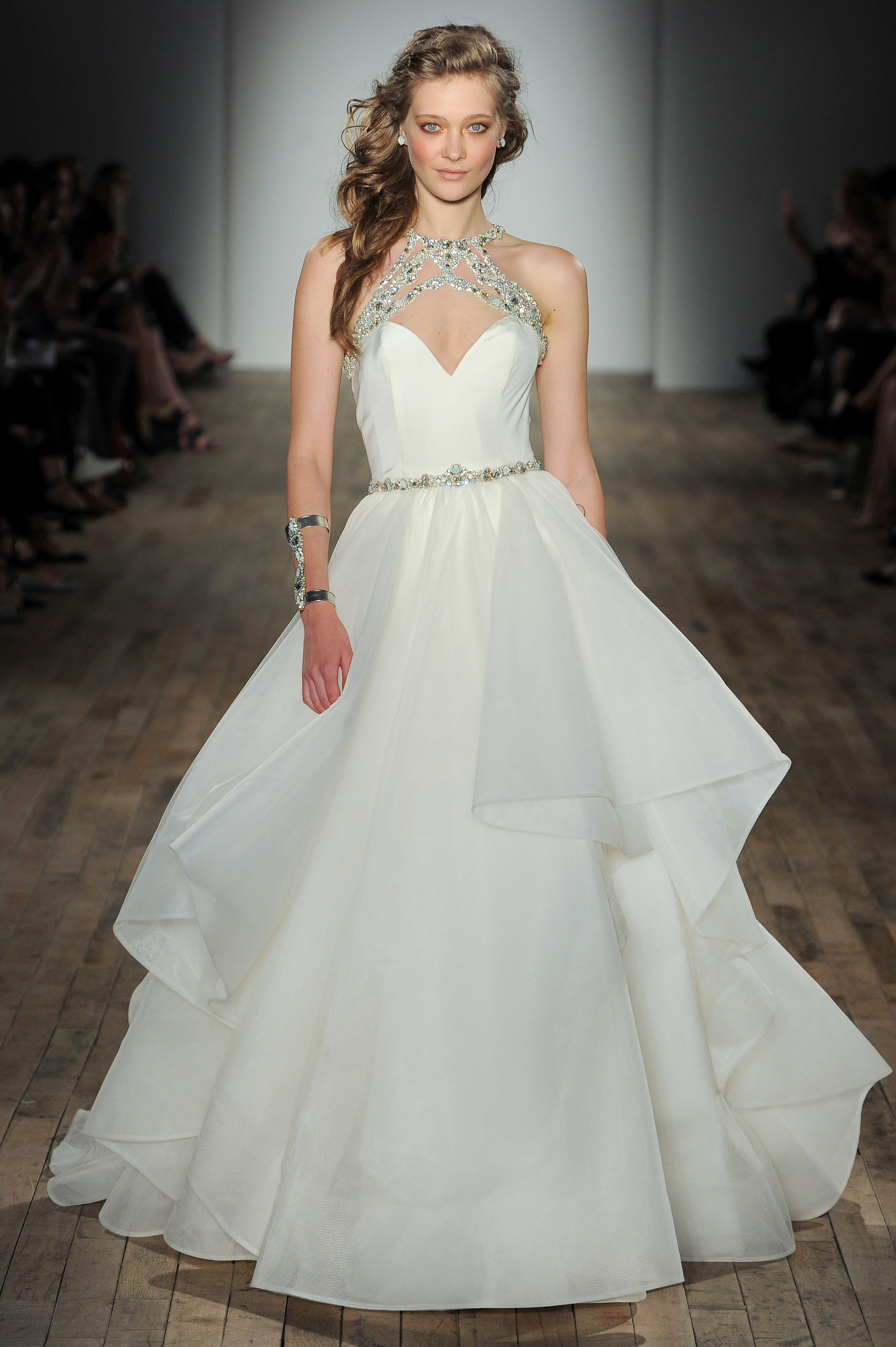 sweetheart ball gown Hayley Paige Spring 2018 Wedding Dress Collection