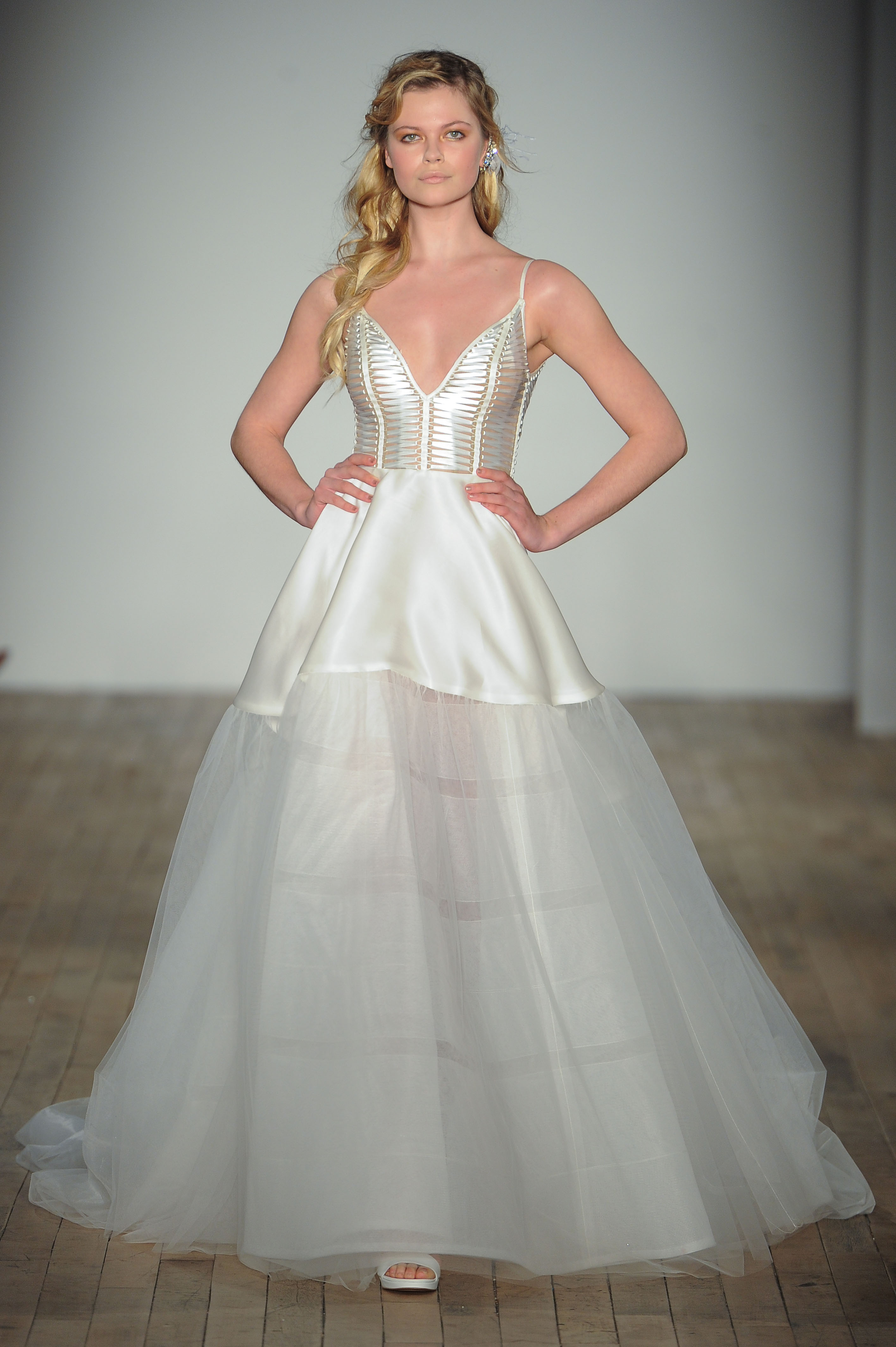 spaghetti strap a-line Hayley Paige Spring 2018 Wedding Dress Collection