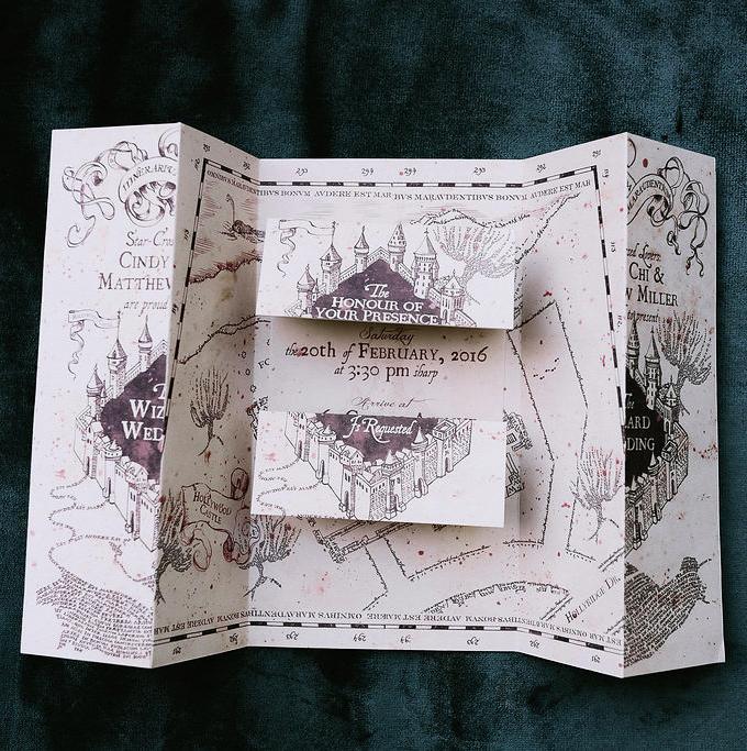 harry potter wedding invite