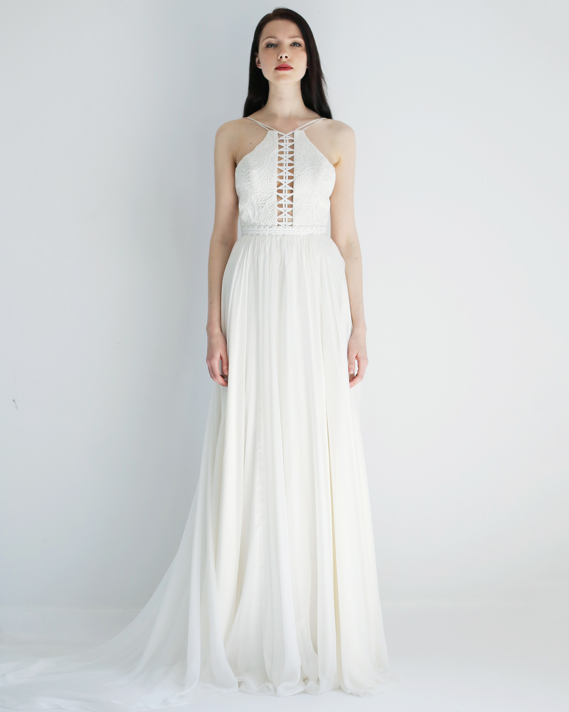 high sheath leanne marshall wedding dress spring2018