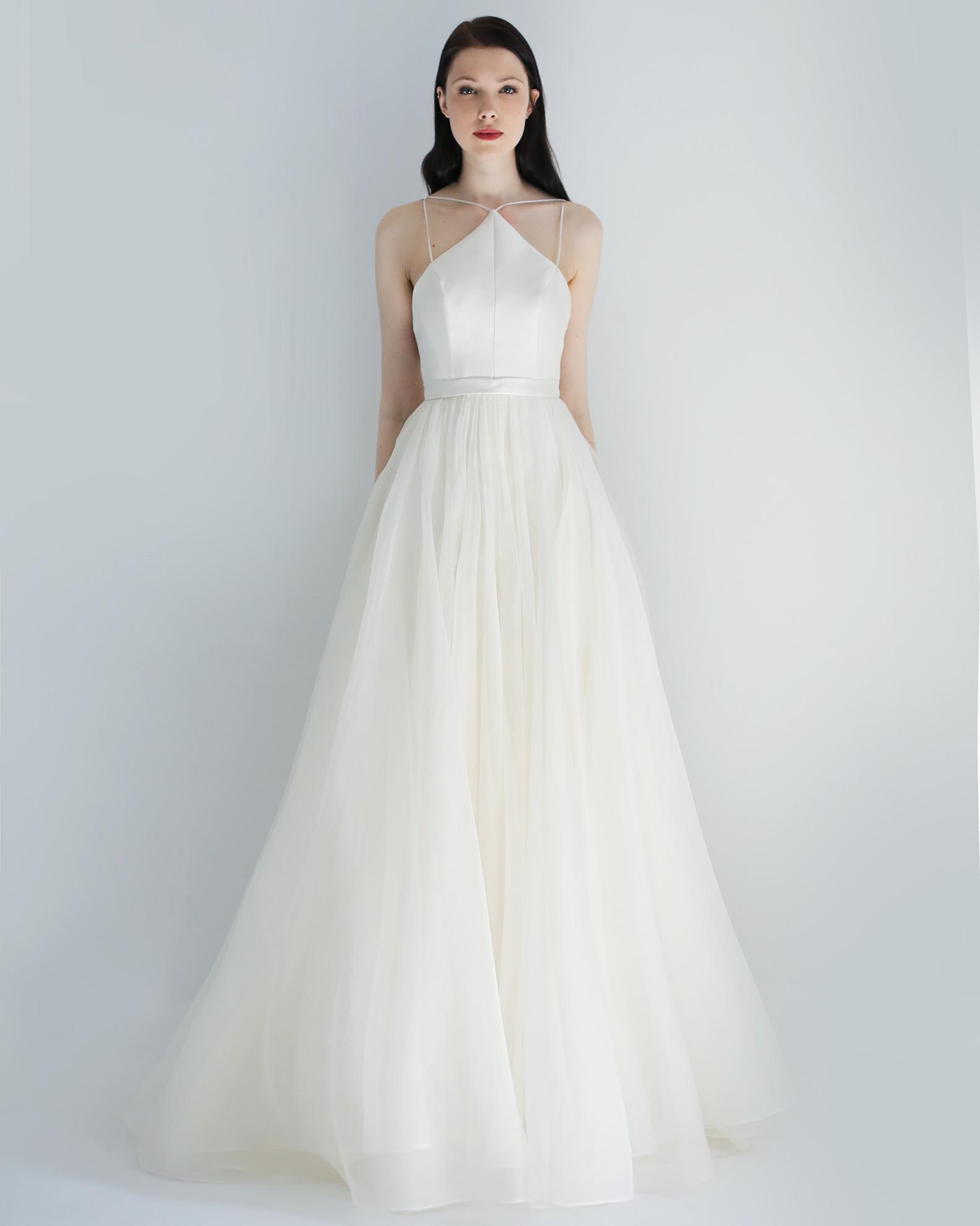 high neck a-line leanne marshall wedding dress spring2018
