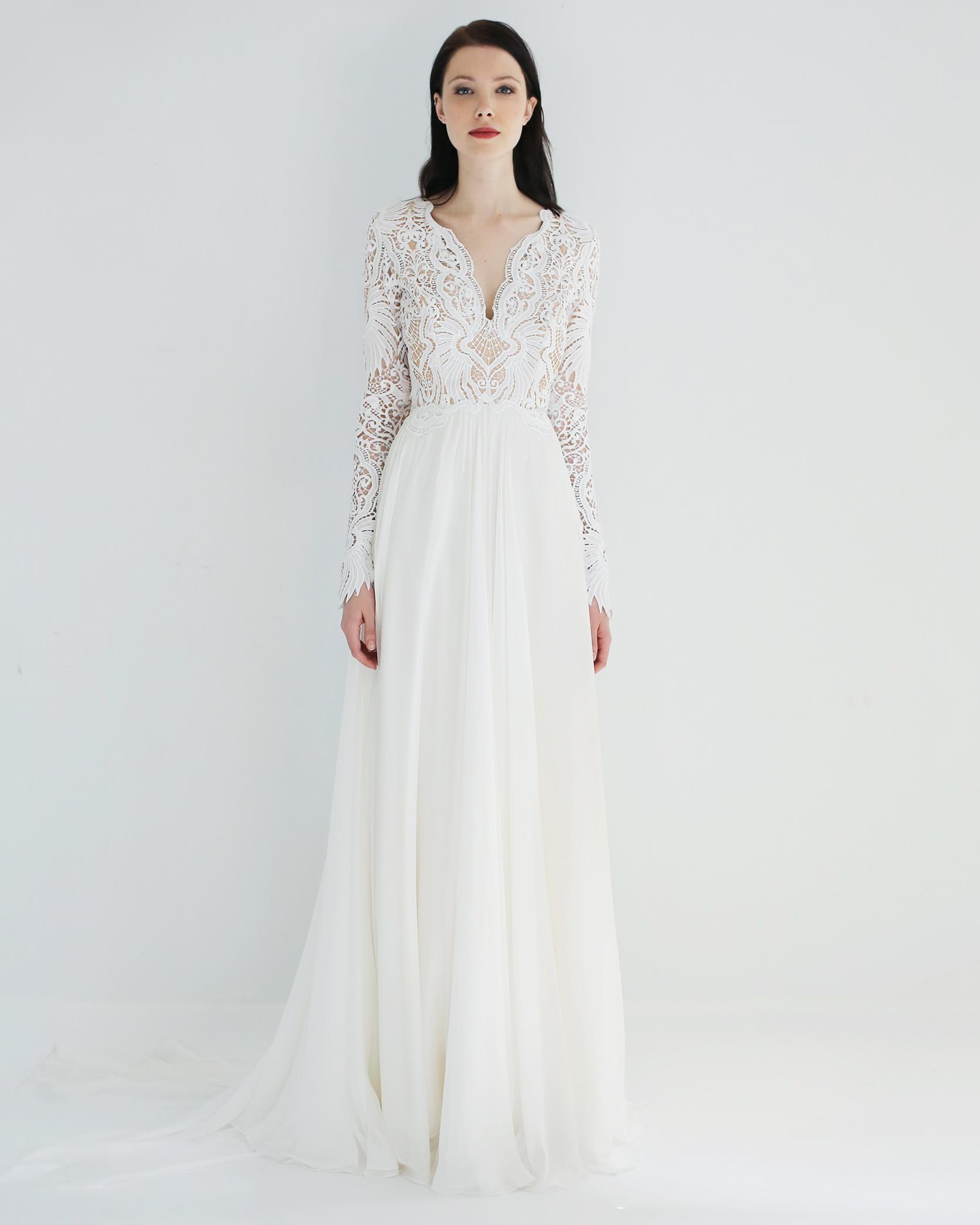 long sleeves a-line leanne marshall wedding dress spring2018