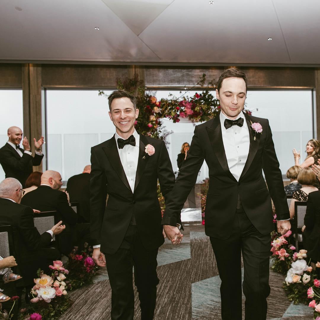 Jim Parsons and Todd Spiewak Rainbow Room wedding
