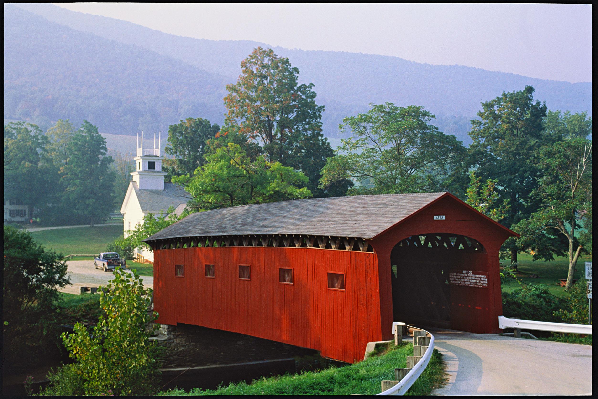covered bridge vermont church