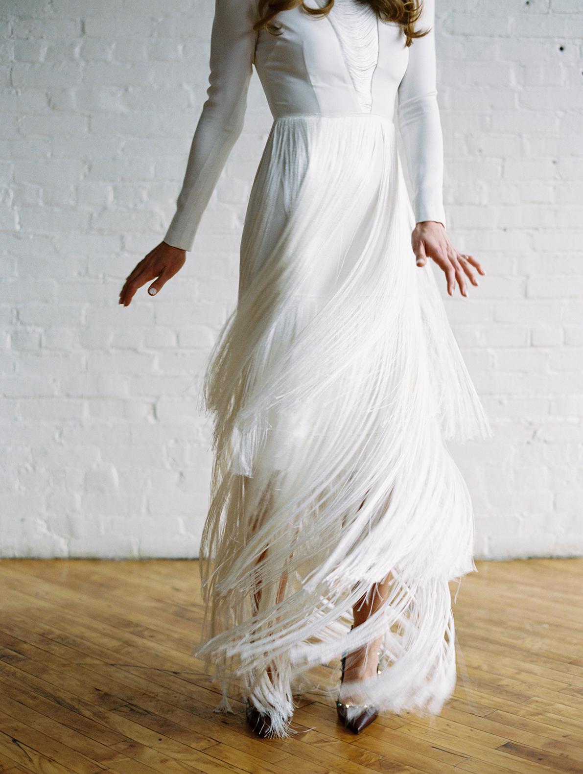 joanna jay wedding bride gown fringe