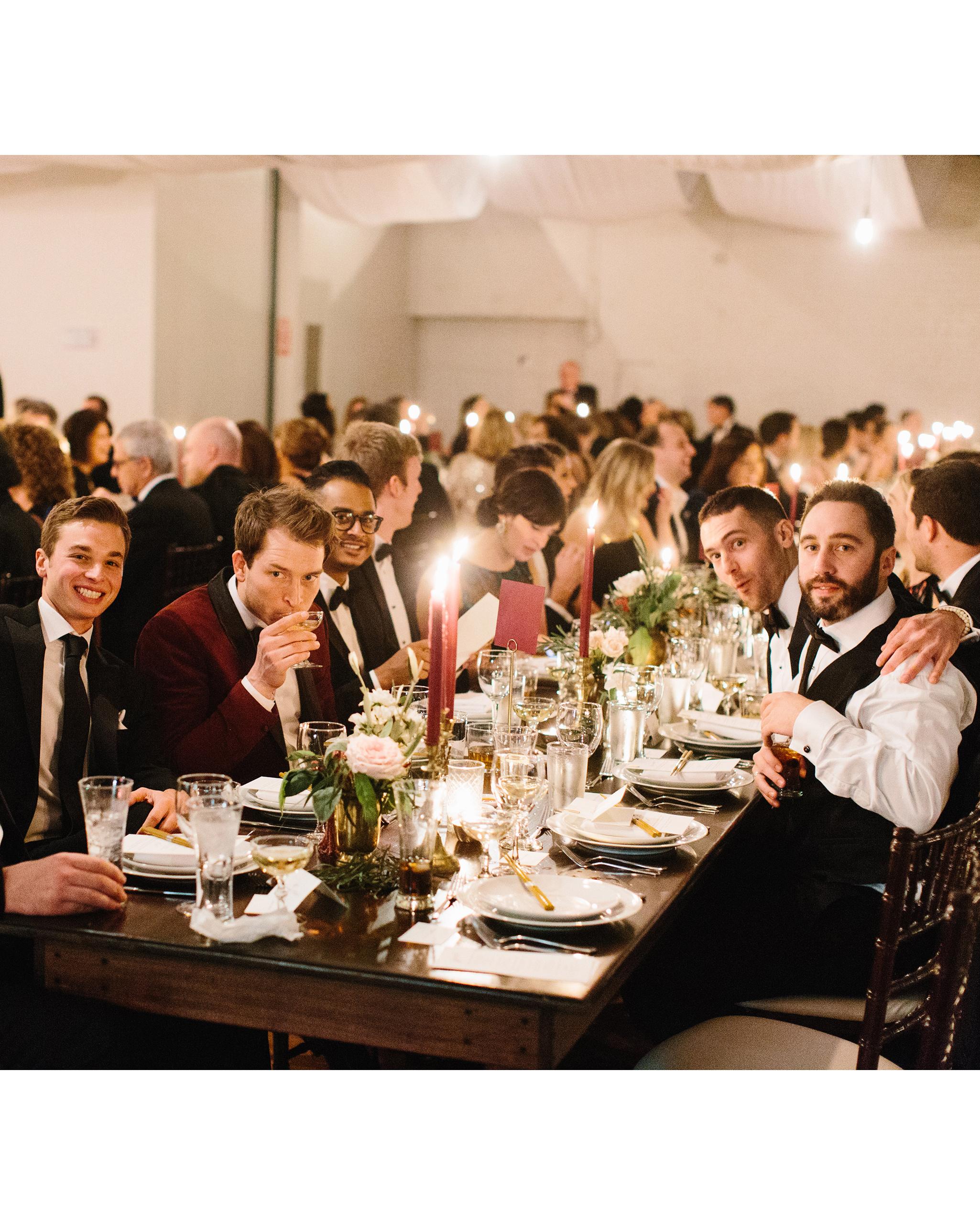 joanna jay wedding reception table guests