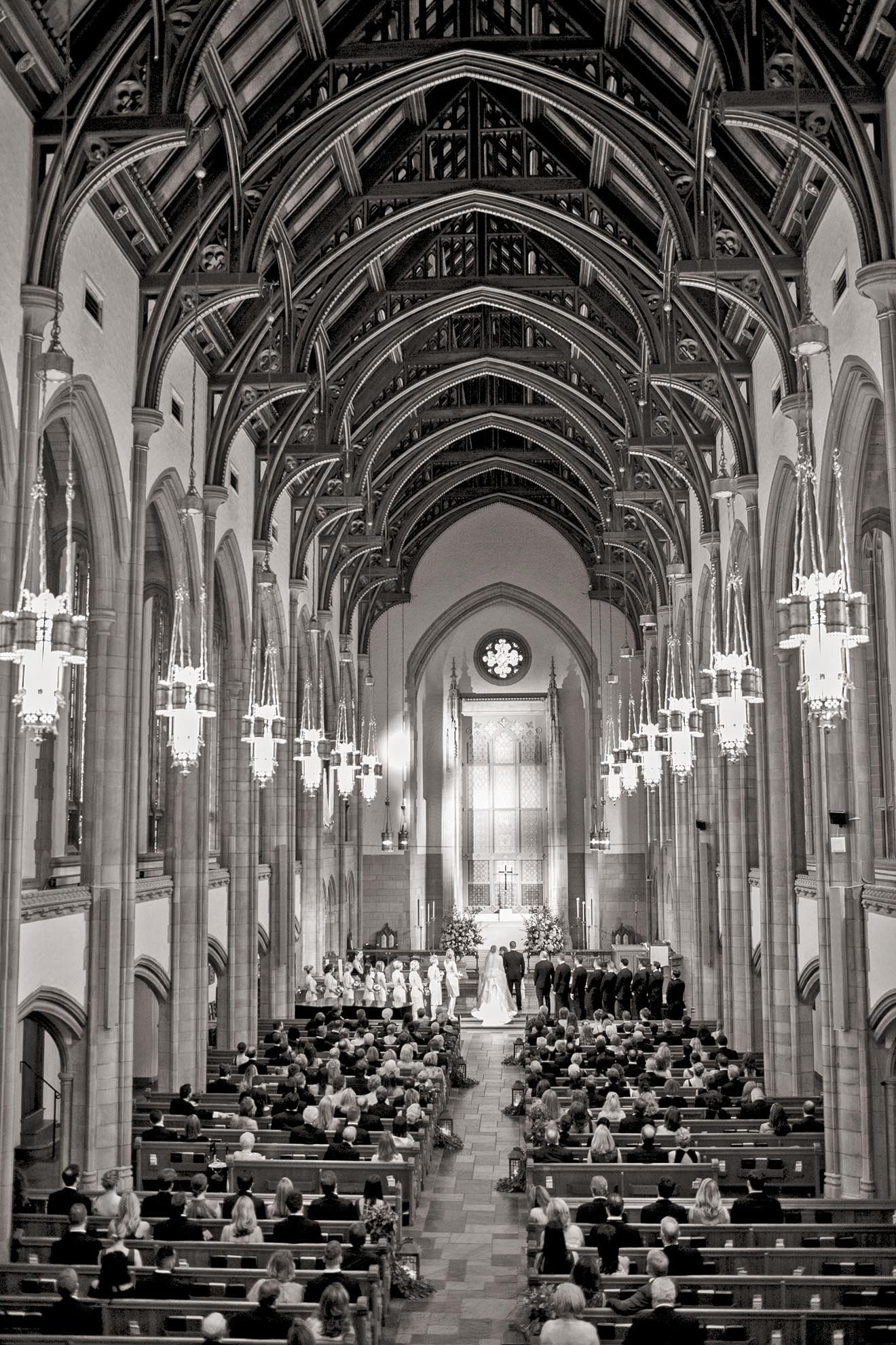 church high ceiling ceremony