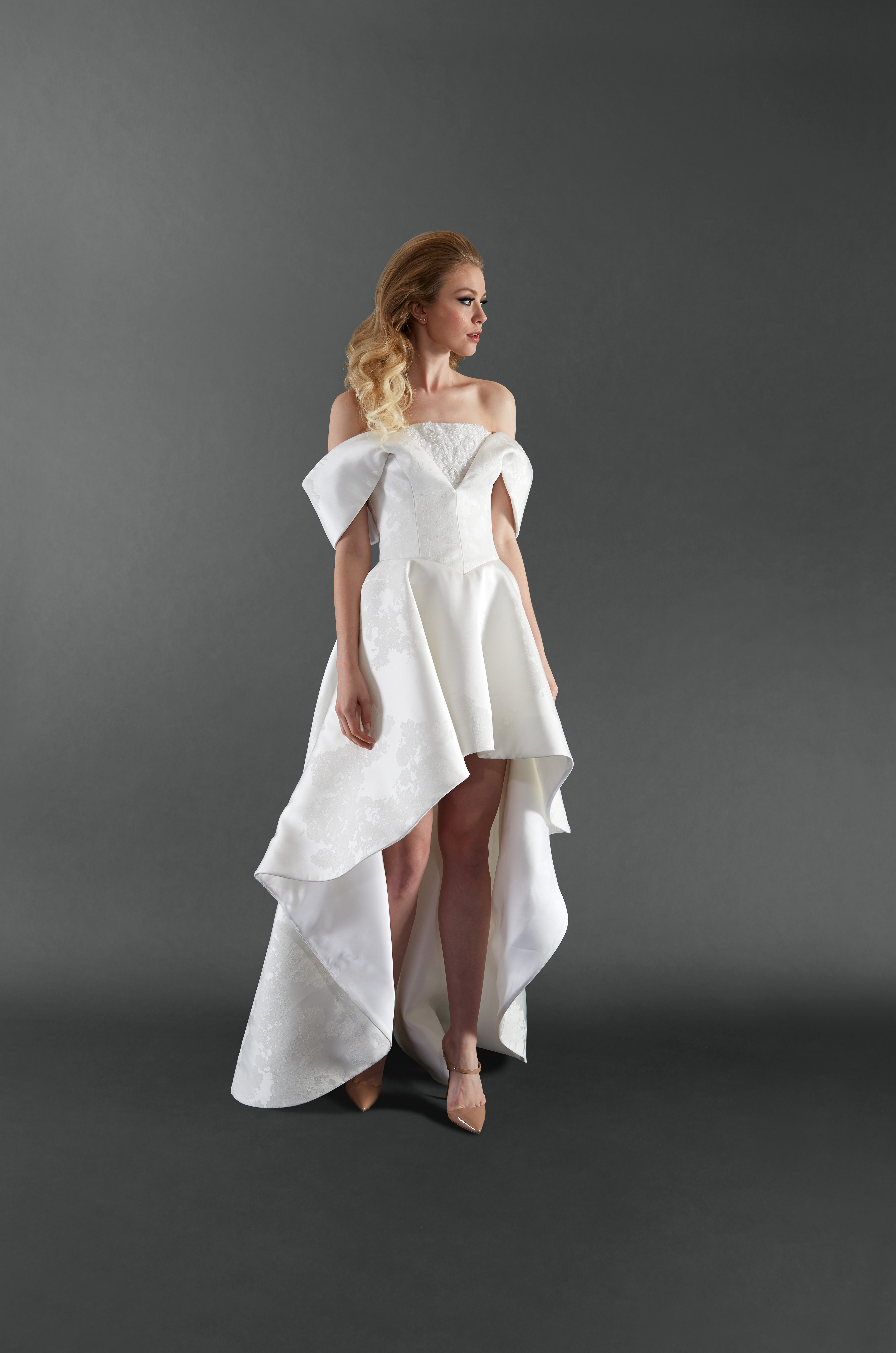 randi rahm off the shoulder wedding dress spring 2018