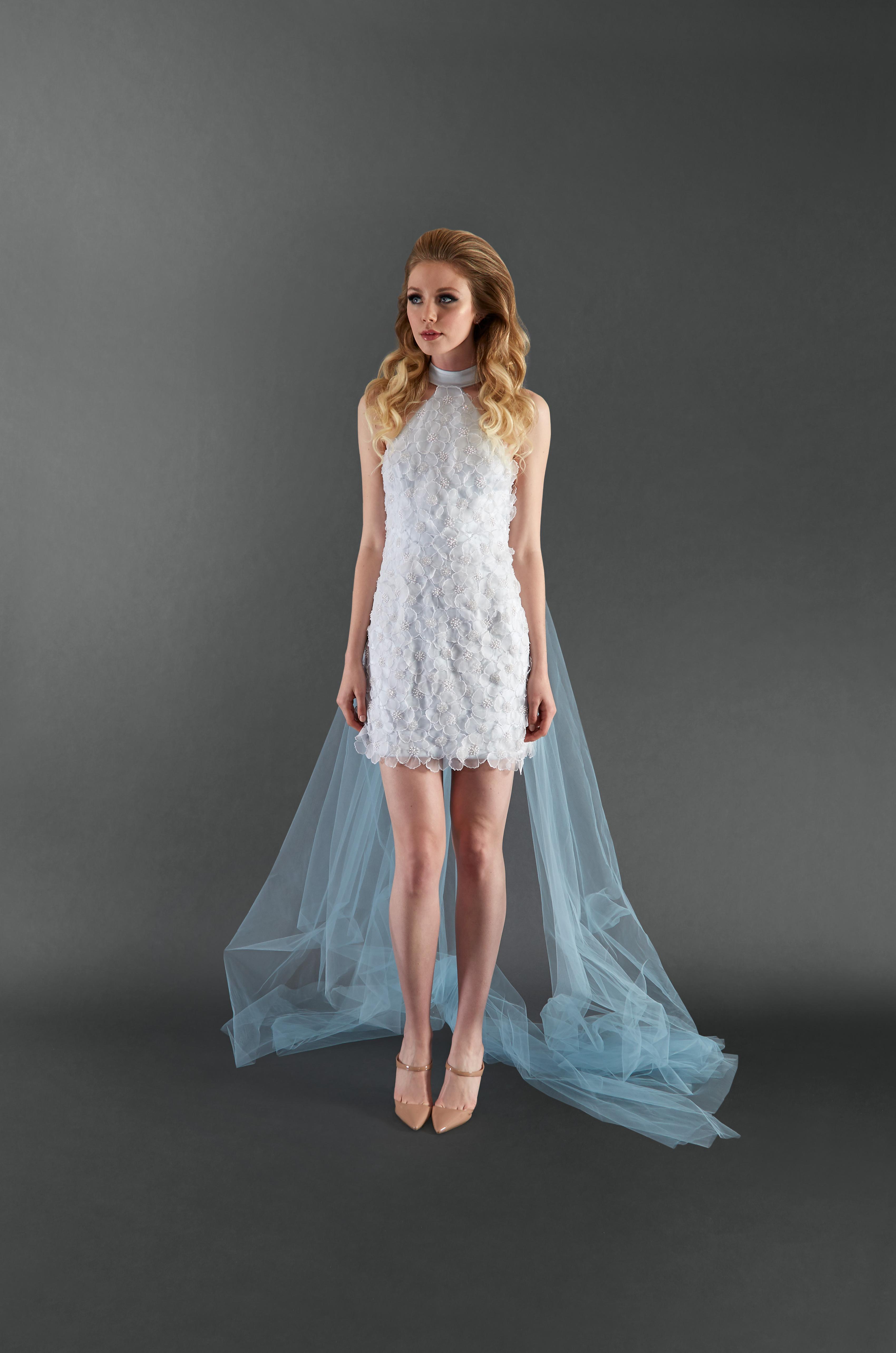 randi rahm short halter wedding dress spring 2018