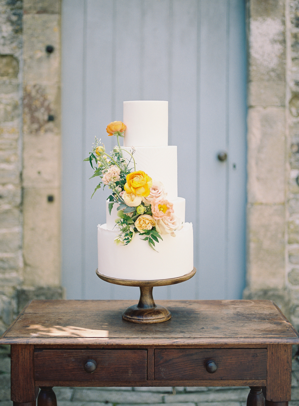 Yellow and Slate wedding color scheme