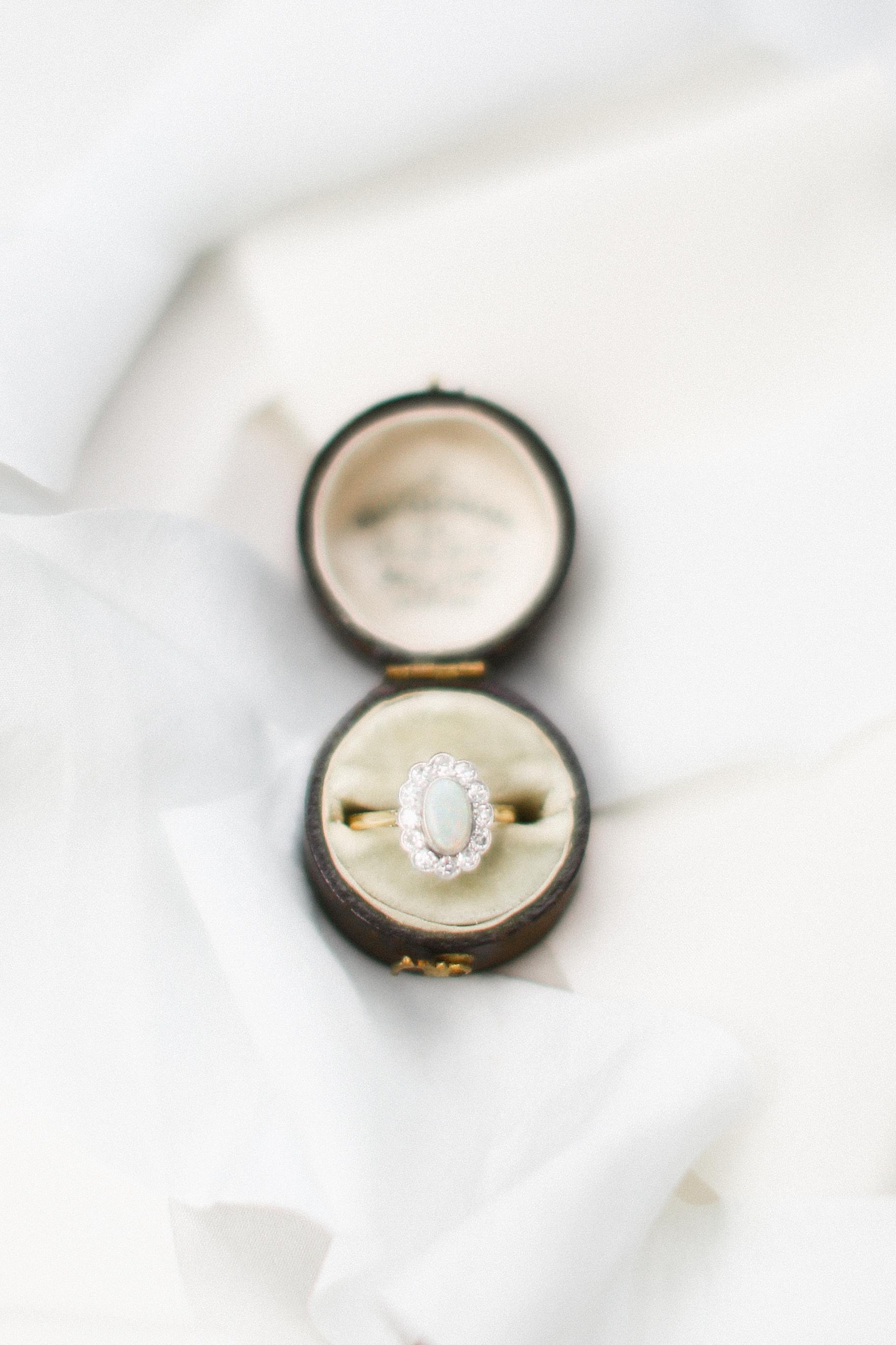 Opal Wedding Ring in a Box