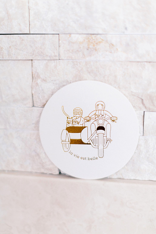 deborah meryl wedding logo